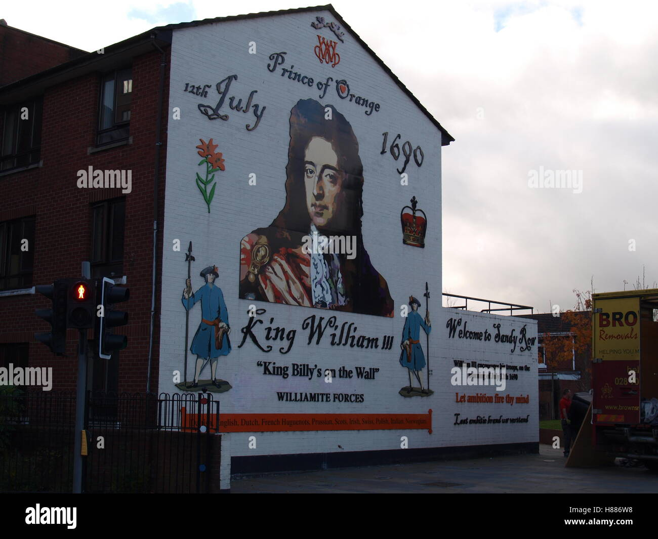 King William Billy on the Gable Wall - Stock Image