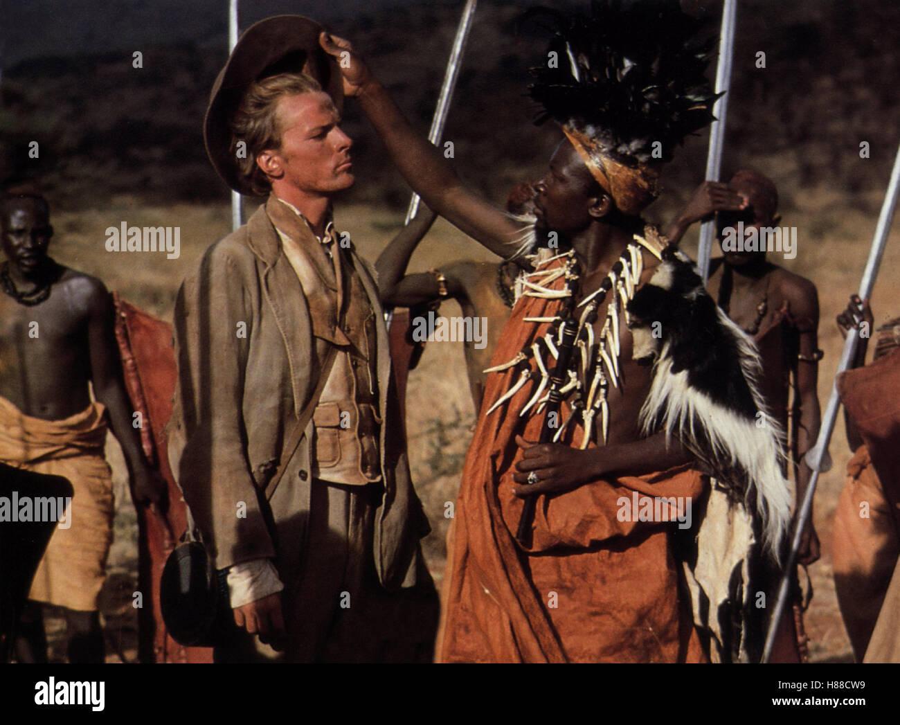 Land der schwarzen Sonne, (MOUNTAINS OF THE MOON) USA 1989, Regie: Bob Rafelson, IAIN GLEN (li), Stichwort: Afrika, Stock Photo