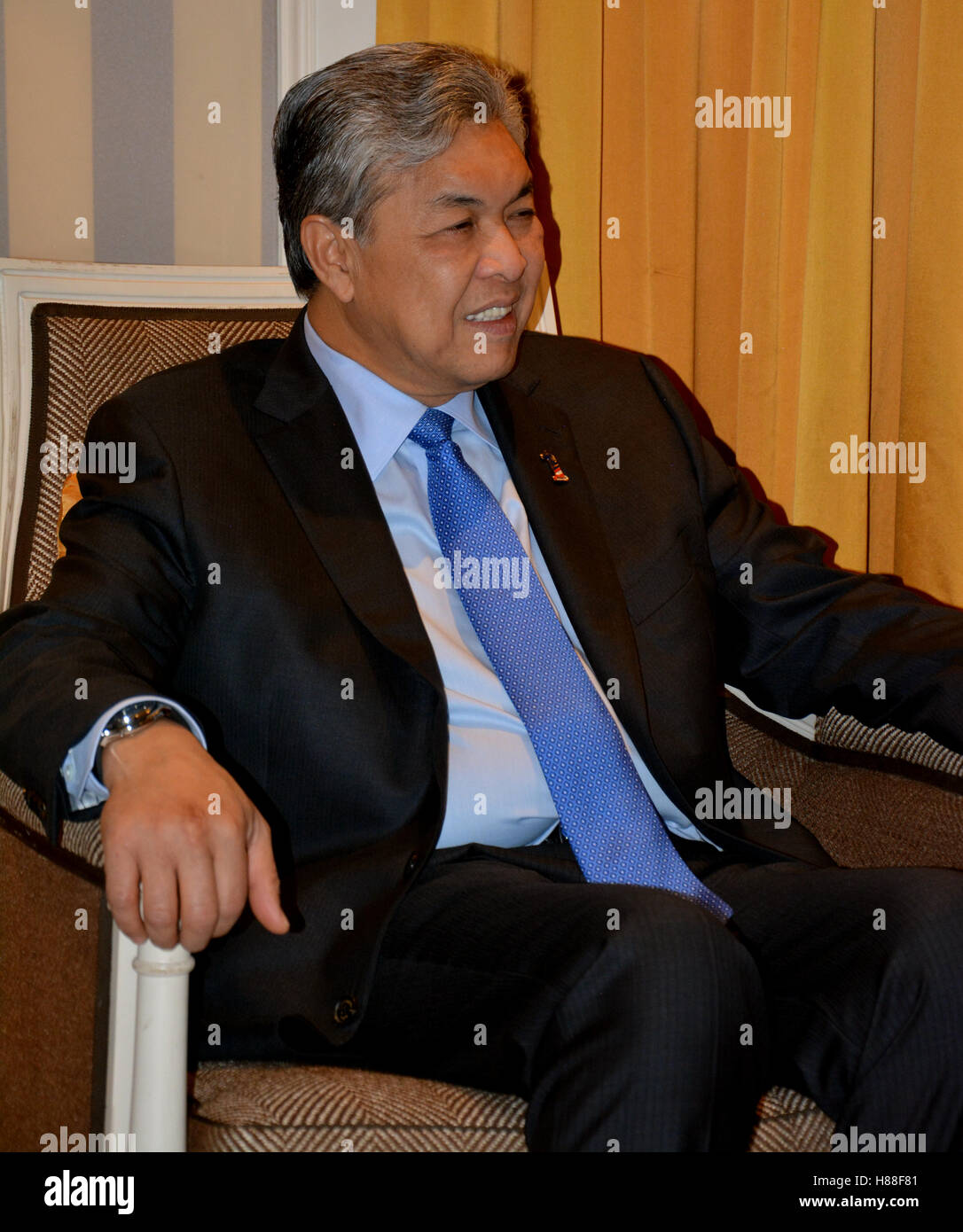 NEW YORK, UNITED STATES - AUGUST 24TH, 2016. Ahmad Zahid Hamidi, a Malaysian politician who has been Deputy Prime Stock Photo