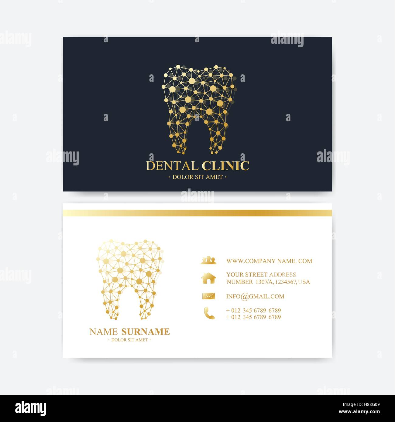 Premium business card print template visiting dental clinic card premium business card print template visiting dental clinic card with tooth logo dentist office oral care dental implants me accmission Images