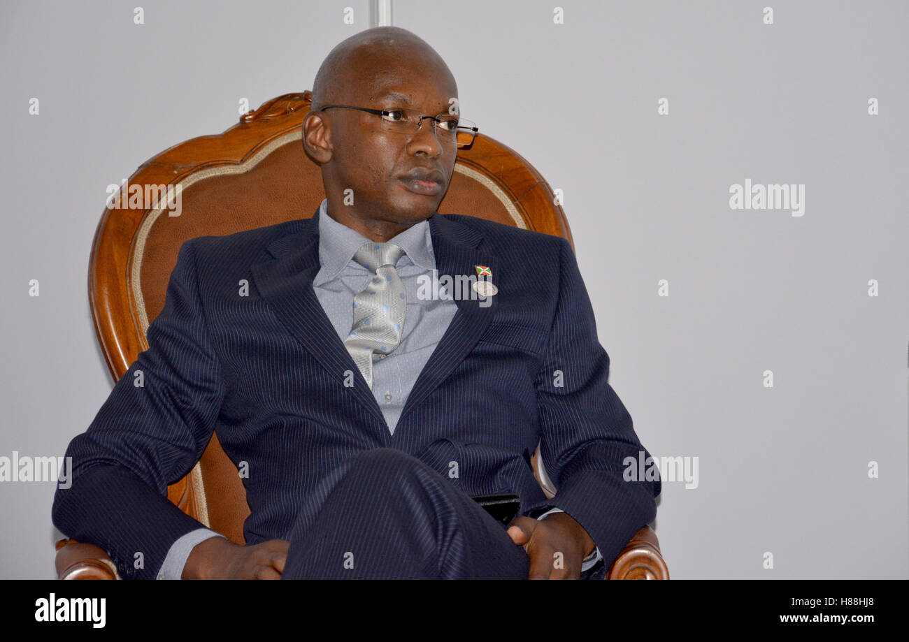 Porlamar, Venezuela. September 15th, 2016: Minister of Foreign Affairs of Burundi, Alain Aimé Nyamitwe at the - Stock Image