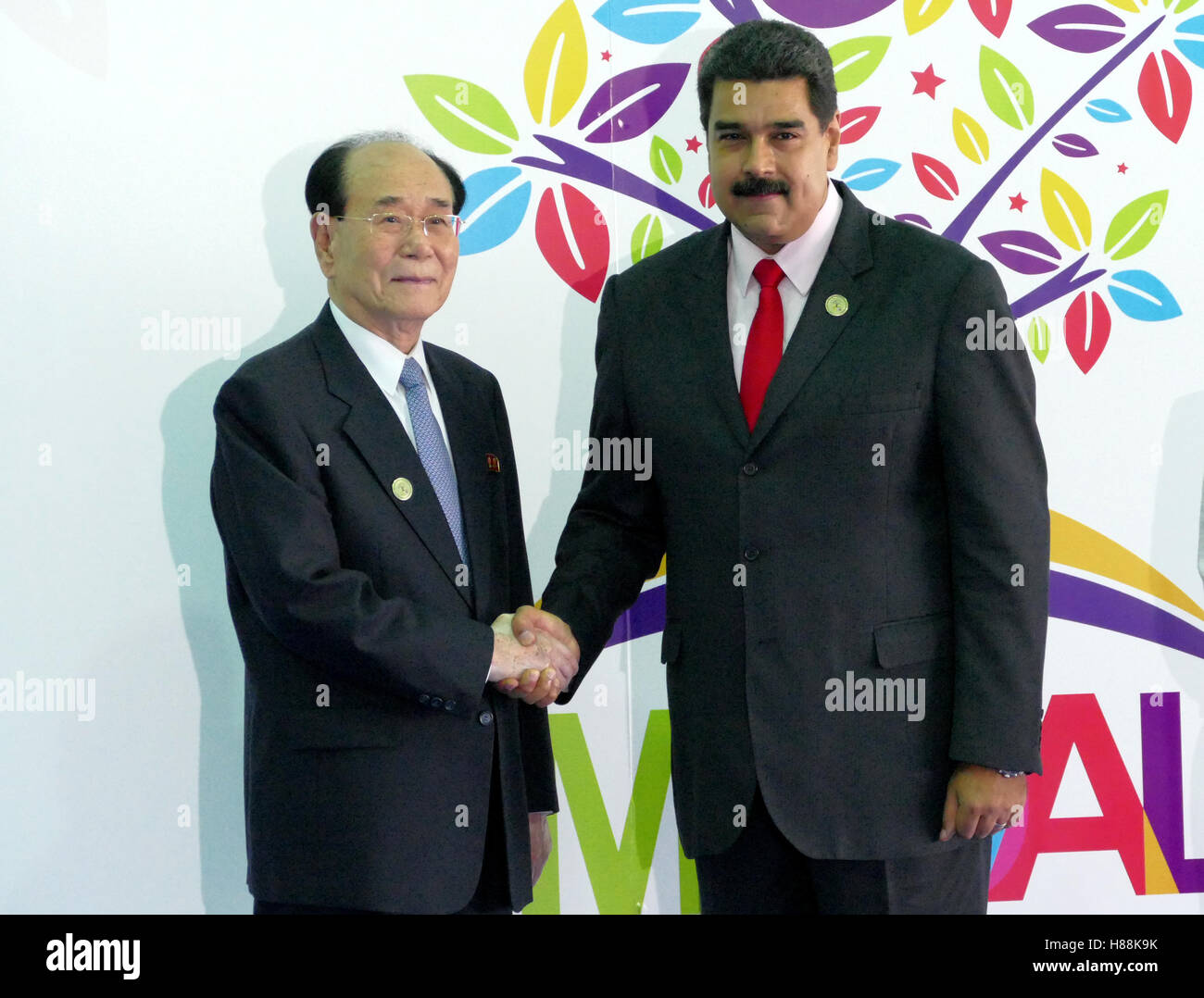 Porlamar, Venezuela. September 17th, 2016: President of the Presidium of the Supreme People's Assembly of North - Stock Image