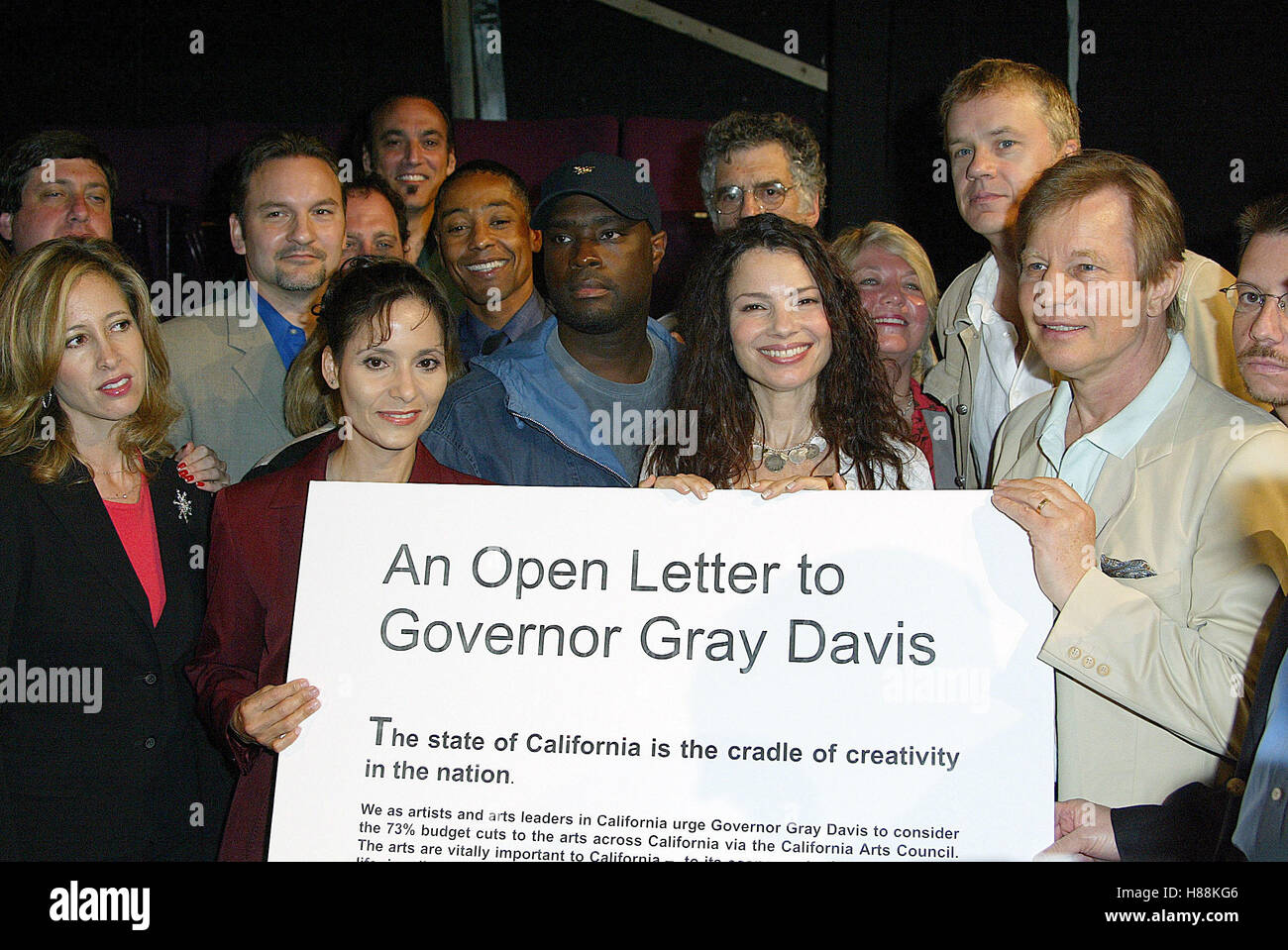 ACTORS INCLUDING GIANCARLO ESPOSITO ANTONE FISHER FRAN DRESCHER ELLIOTT GOULD TIM ROBBINS & MICHAEL YORK ARTISTS - Stock Image