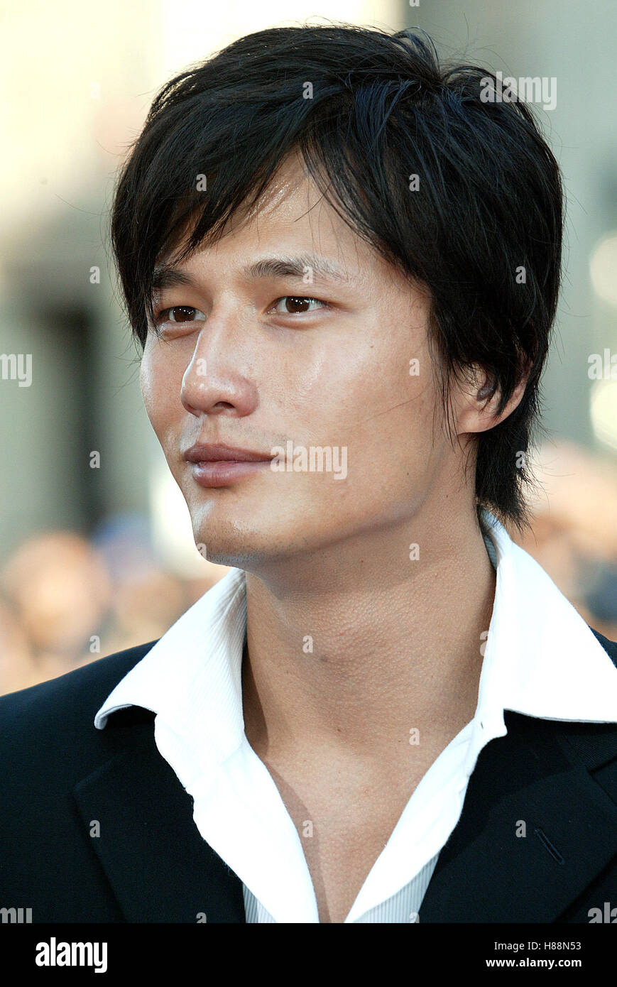 TERENCE YIN LARA CROFT TOMB RAIDER: THE CR CHINESE THEATRE HOLLYWOOD LOS ANGELES USA 21 July 2003 - Stock Image