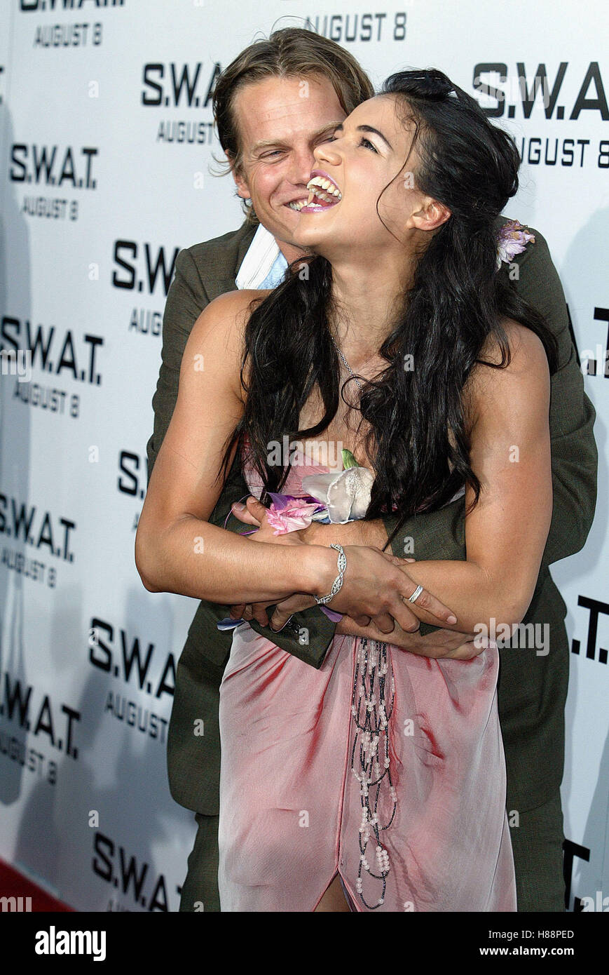 BRIAN VAN HOLT & MICHELLE RODRIGUEZ S.W.A.T.  WORLD PREMIERE WESTWOOD LOS ANGELES USA 30 July 2003 - Stock Image