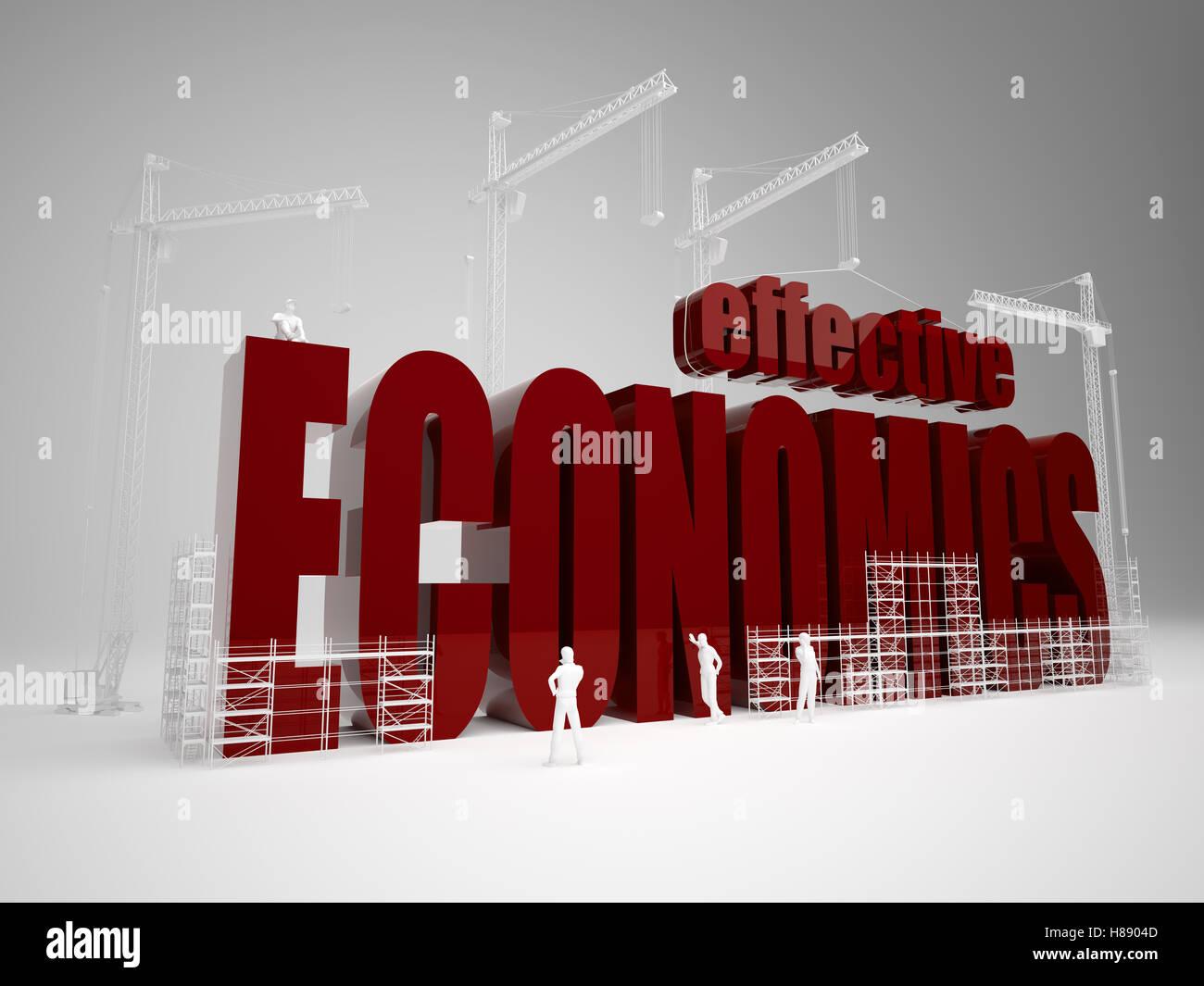 Building effective economics - Stock Image