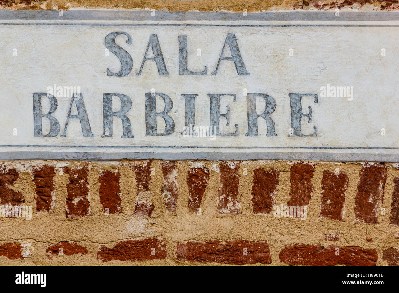 an old sign barber - Stock Image