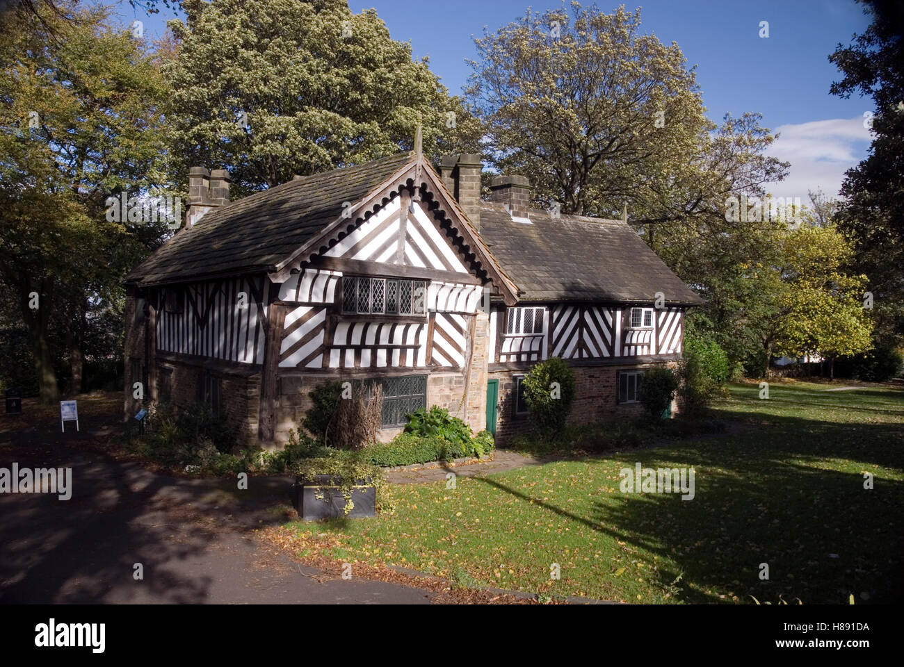 Sheffield, UK 22 Oct 2014: The Bishops' House on 22 Oct 2014 in Meersbrook Park, Sheffield, UK. A Tudor timber - Stock Image