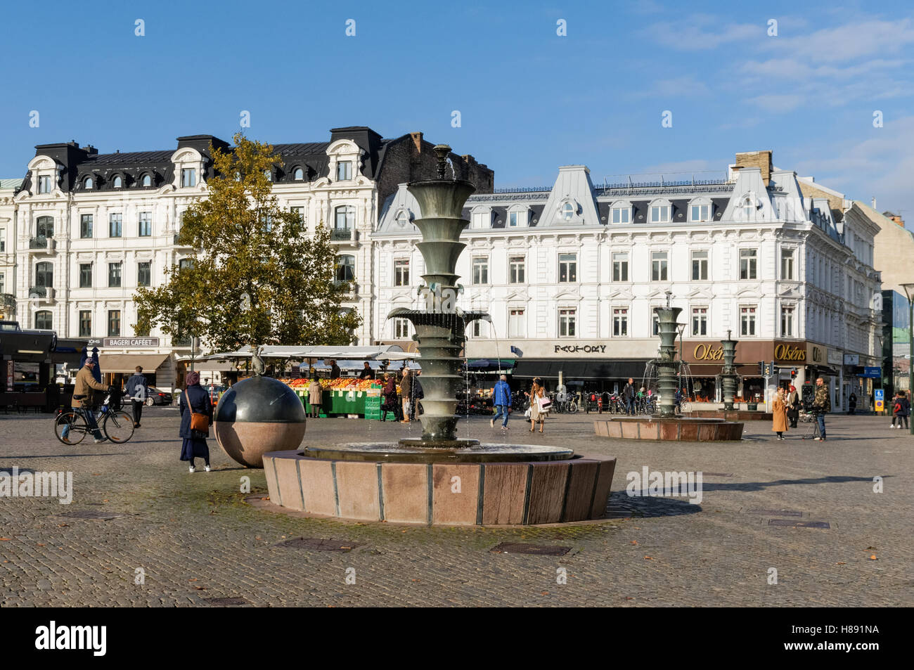 890d4b08a3f7 Gustav Adolf's Square (Gustav Adolfs torg) in Malmo, Sweden Stock ...