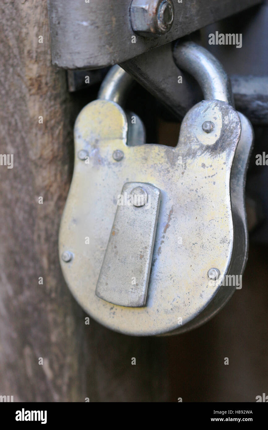 Large padlock - Stock Image