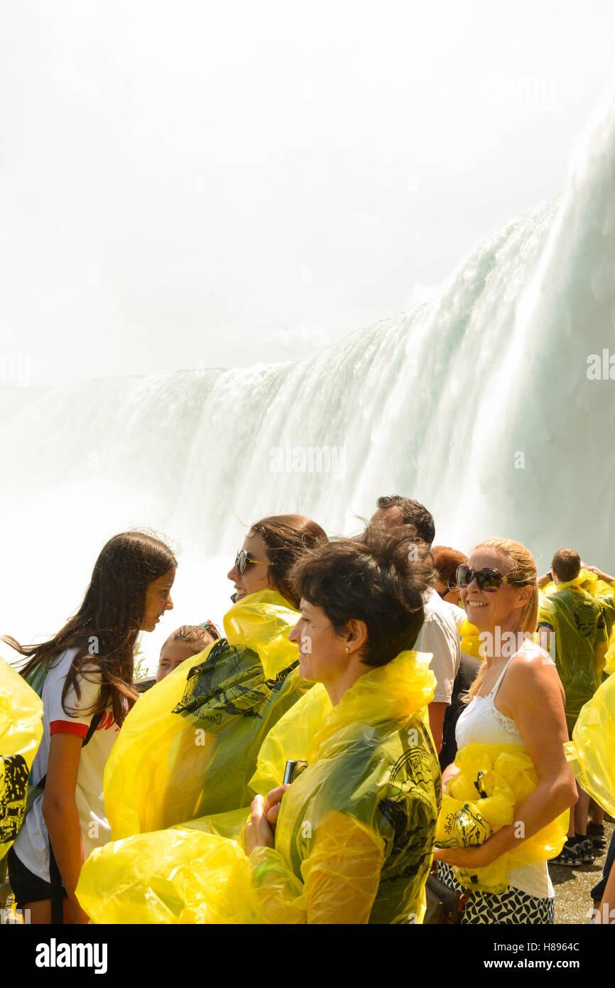 people at Niagara Falls, Ontario, Canada - Stock Image