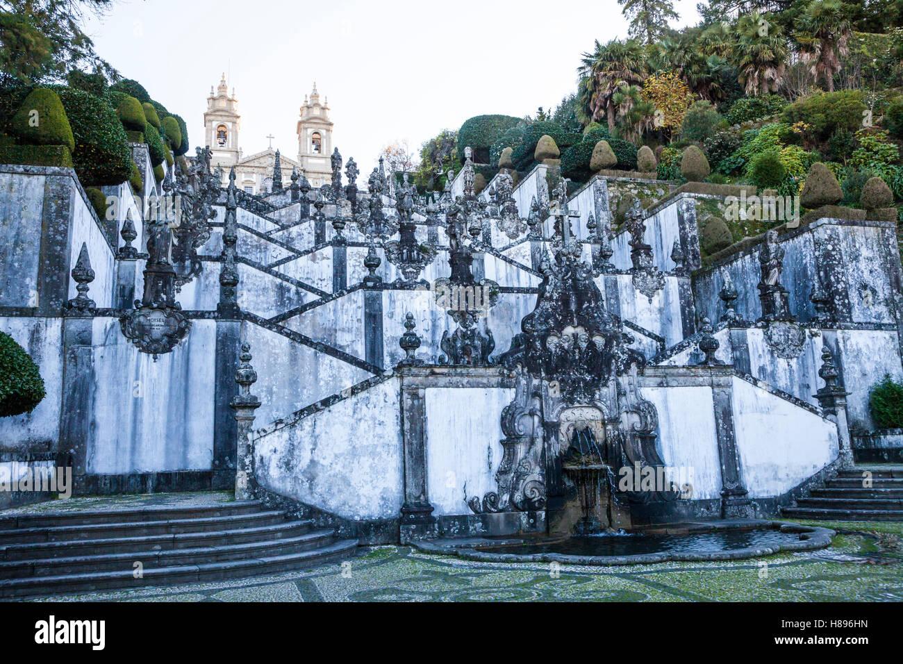 Sanctuary Bom Jesus do Monte church in Braga, Portugal - Stock Image