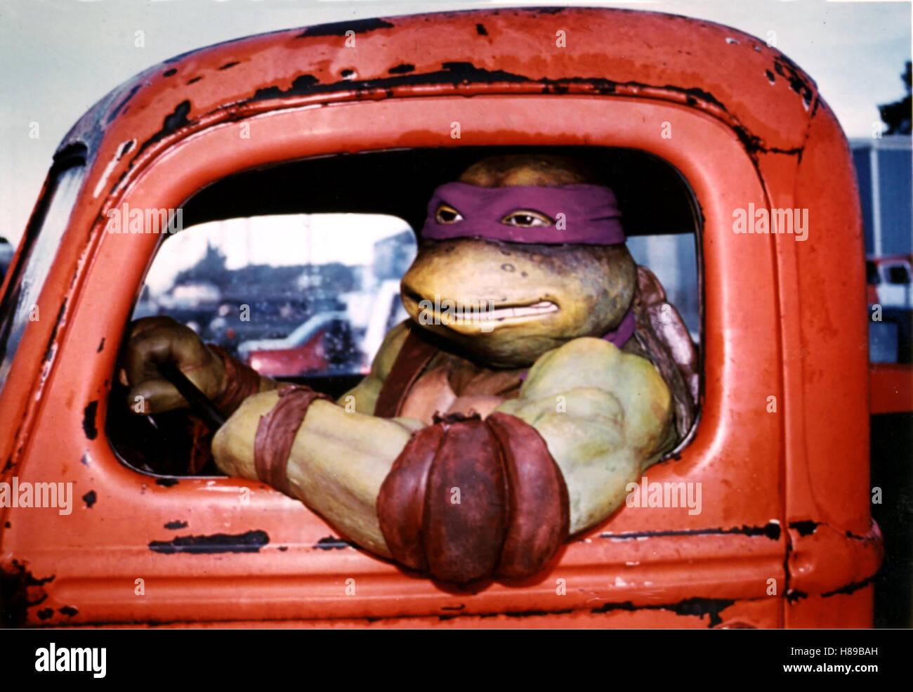 Turtles, (TEENAGE MUTANT NINJA TURTLES) USA 1990, Regie: Steve Barron, TURTLE, Stichwort: Lastwagen - Stock Image
