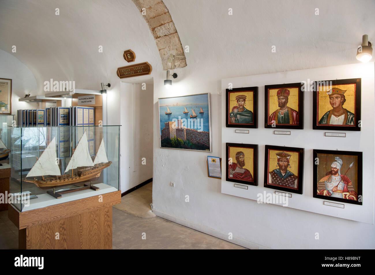 Griechenland, Kreta, Chania, Marine Museum Stock Photo