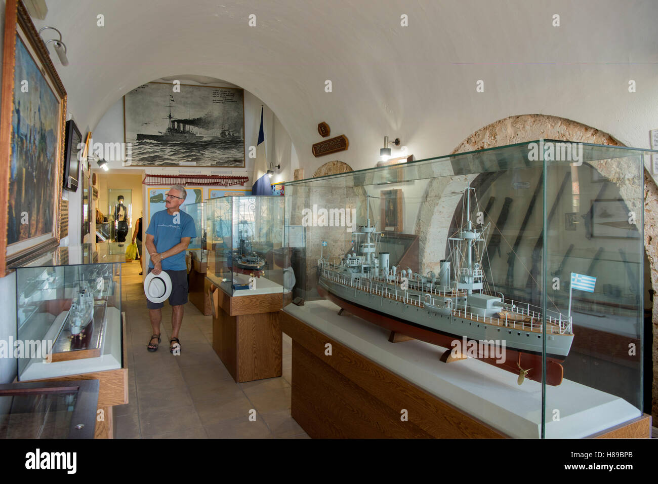 Griechenland, Kreta, Chania, Marine Museum Stock Photo