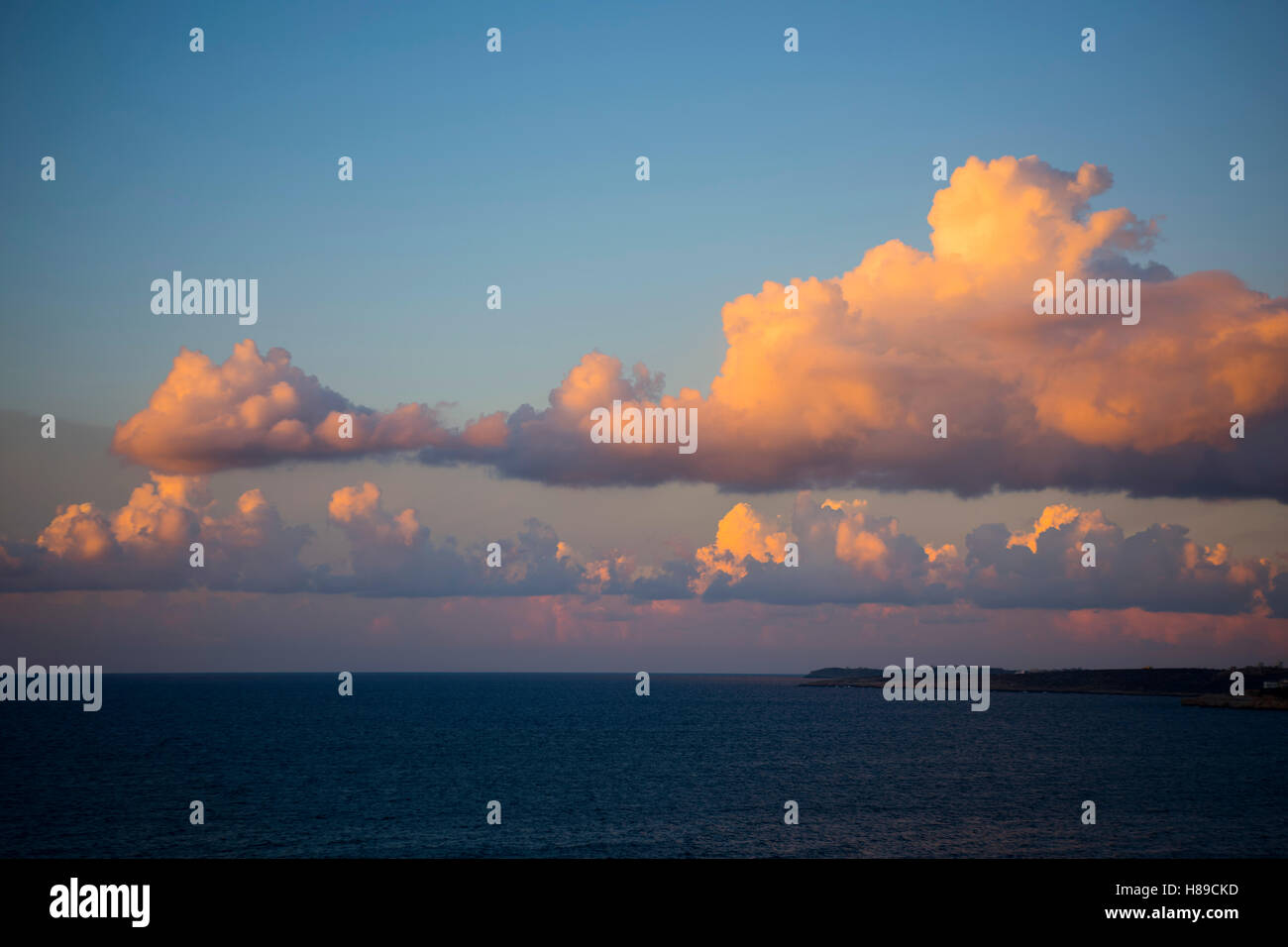 Greece, Crete, Chania, evening clouds - Stock Image