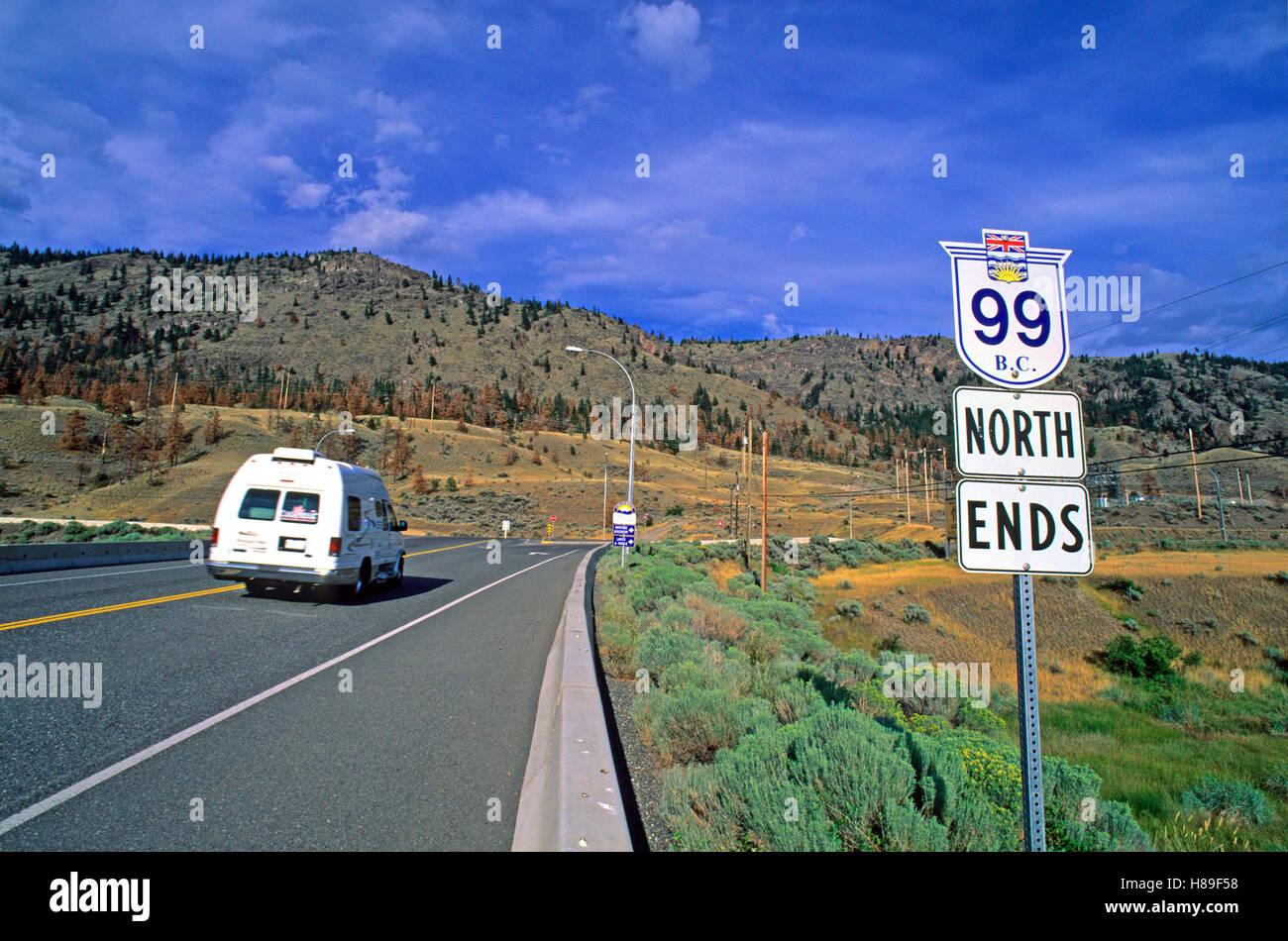 Road Highway 99 North Near Cache Creek Bonaparte Valley British Columbia Canada