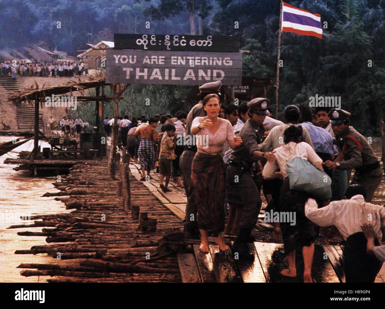 Rangoon - Im Herzen des Sturms, (BEYOND RANGOON) USA 1995, Regie: John Boorman, PATRICIA ARQUETTE, Stichwort: Grenze, Stock Photo
