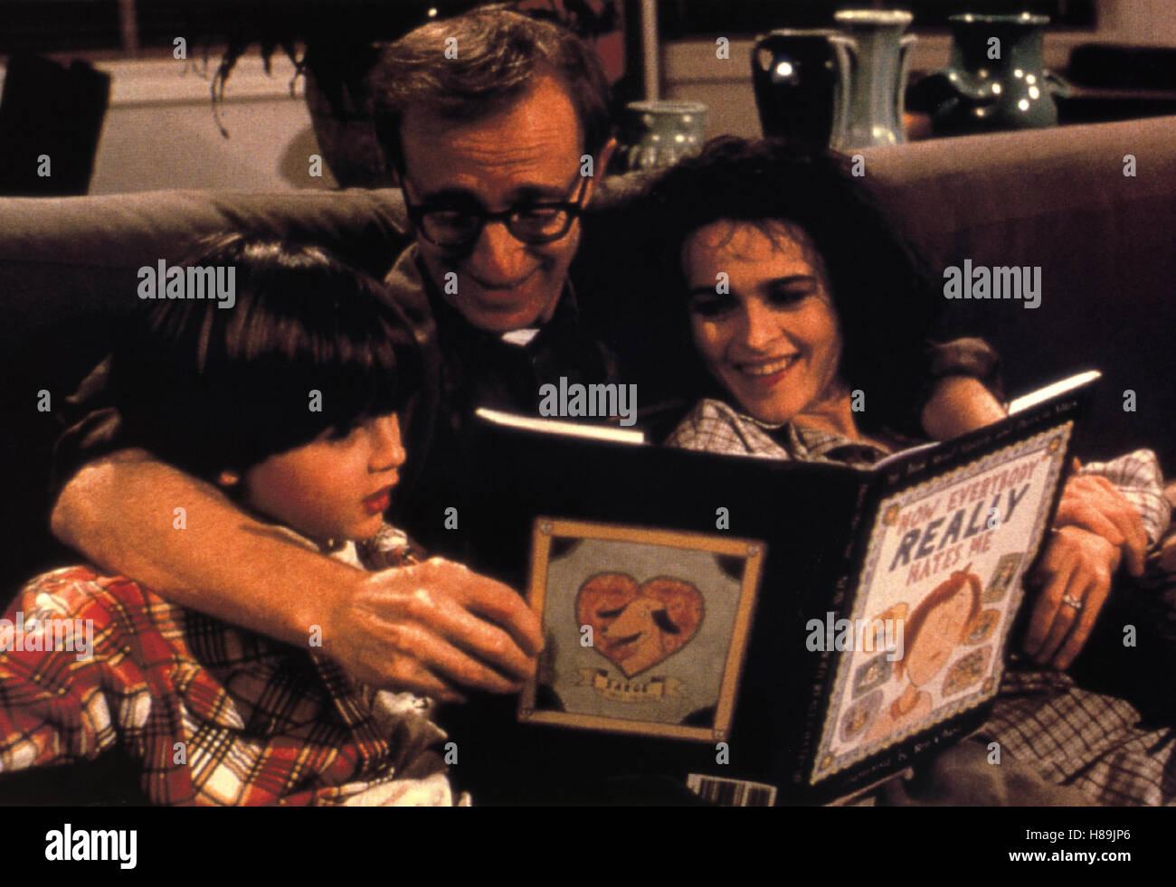 Geliebte Aphrodite, (MIGHTY APHRODITE) USA 1996, Regie: Woody Allen, WOODY ALLEN (mi), HELENA BONHAM CARTER (re), - Stock Image