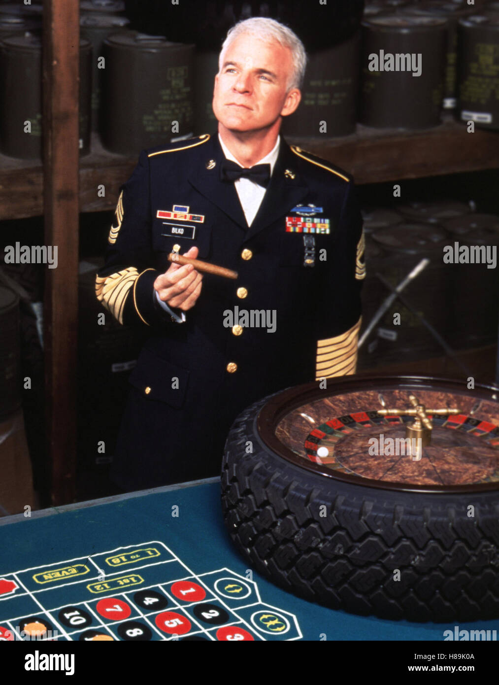 Immer Ärger mit Sergeant Bilko, (SGT. BILKO) USA 1996, Regie: Jonathan Lynn, STEVE MARTIN, Stichwort: Spielbank, - Stock Image