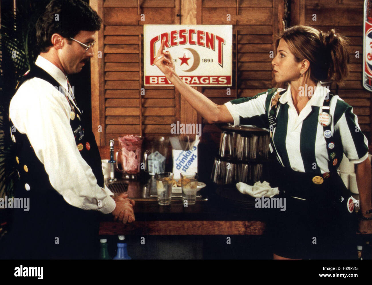 Alles Routine, (OFFICE SPACE) USA 1999, Regie: Mike Judge, JENNIFER ANISTON (re) - Stock Image