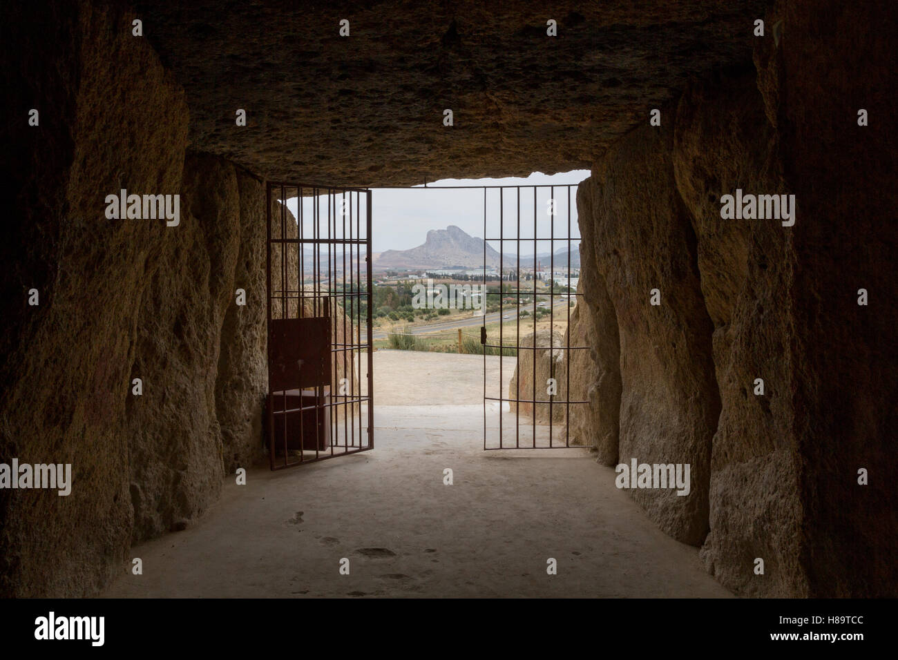 Antequera dolmen, Málaga, Spain - Stock Image