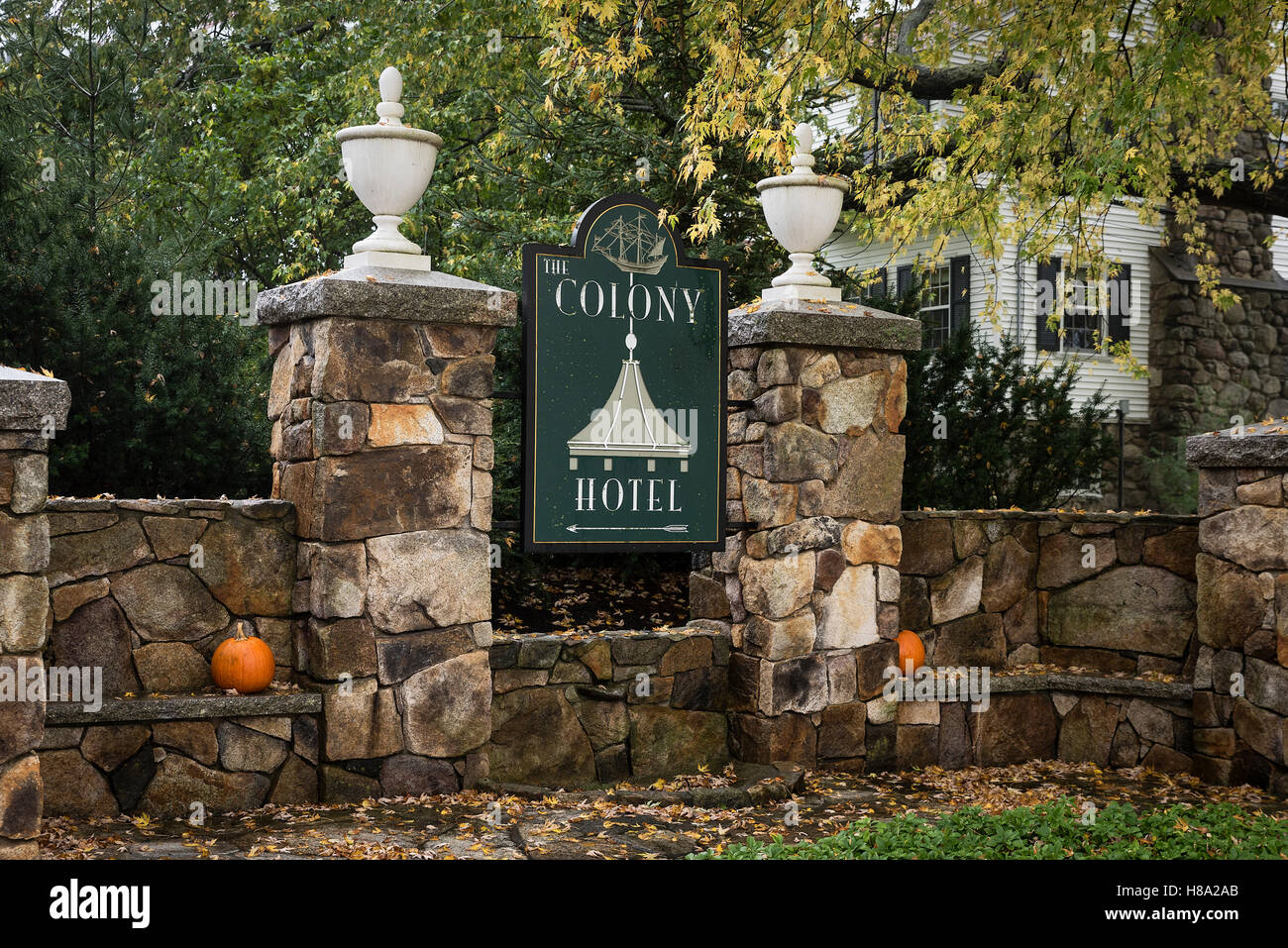 The Colony Resort Hotel, Kennebunkport, Maine, USA. - Stock Image