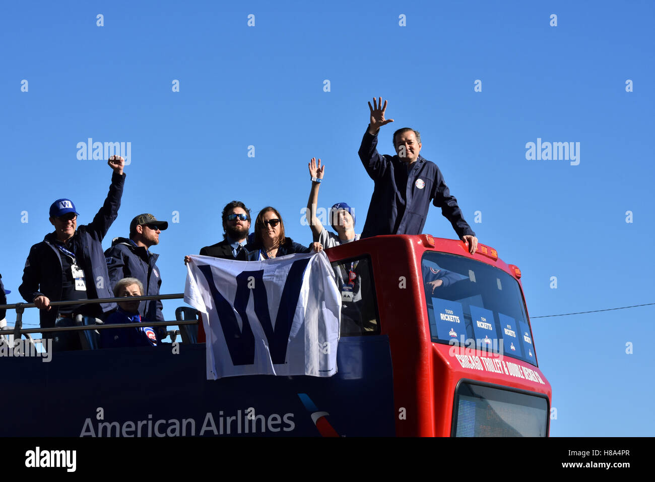 2016 Chicago Cubs World Series Parade - Stock Image