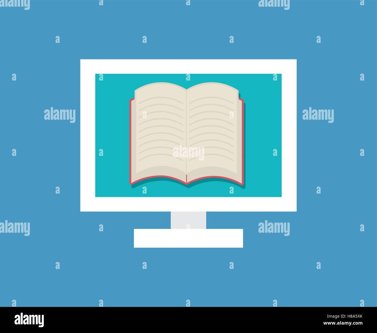 Elearning online education - Stock Image