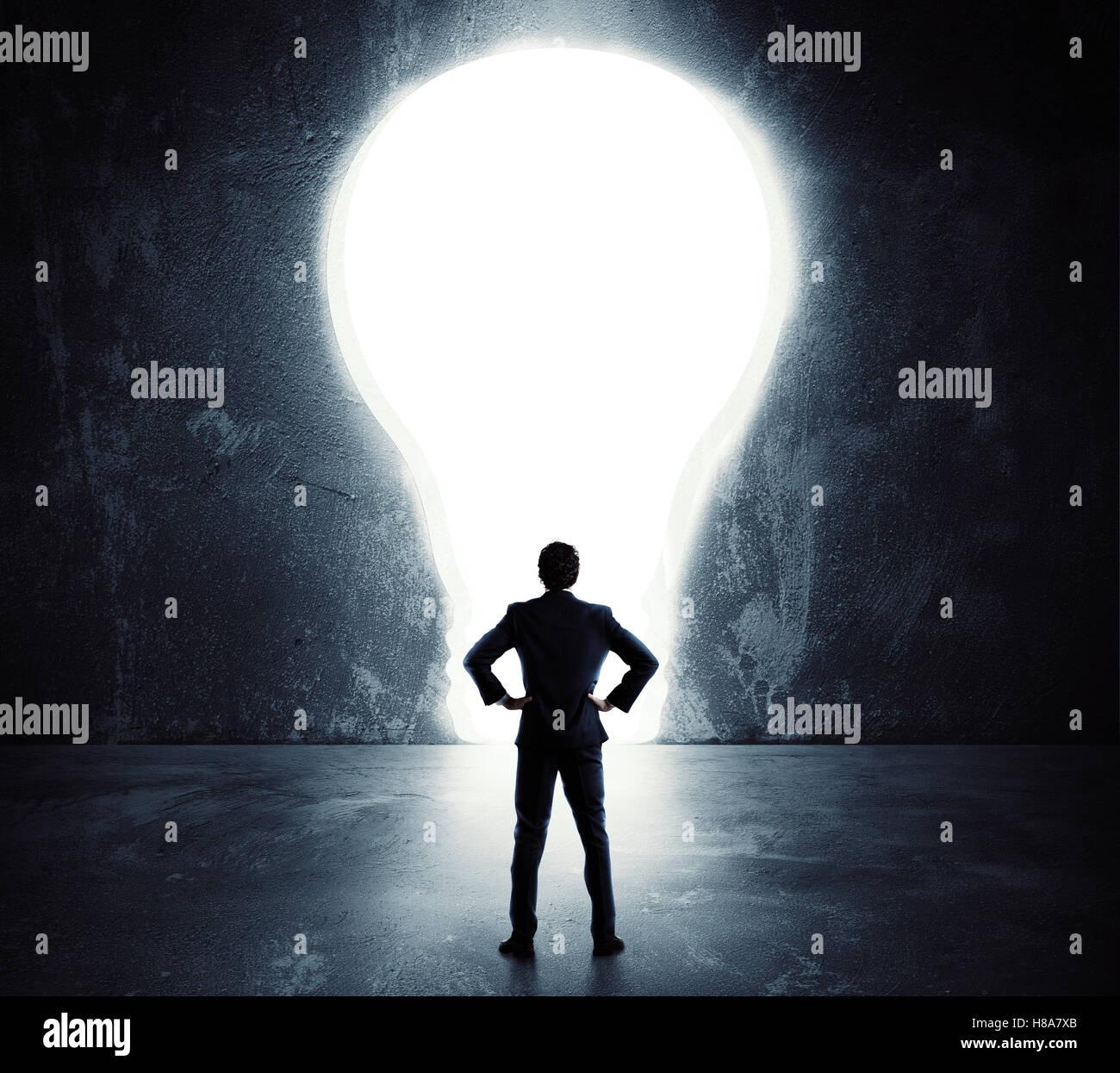 Lightbulb door - Stock Image