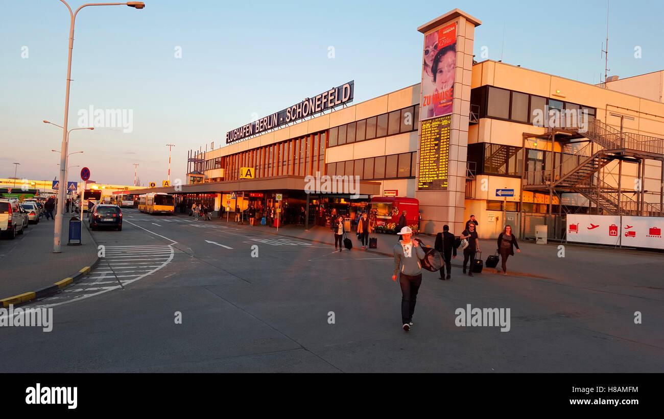 Flughafen Schoenefeld, Berlin. - Stock Image