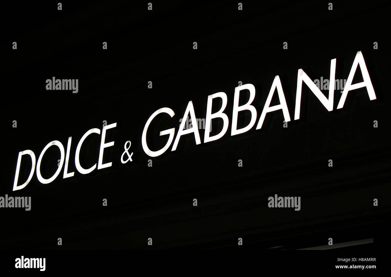 das Logo der Marke 'Dolce und Gabbana', Berlin. - Stock Image