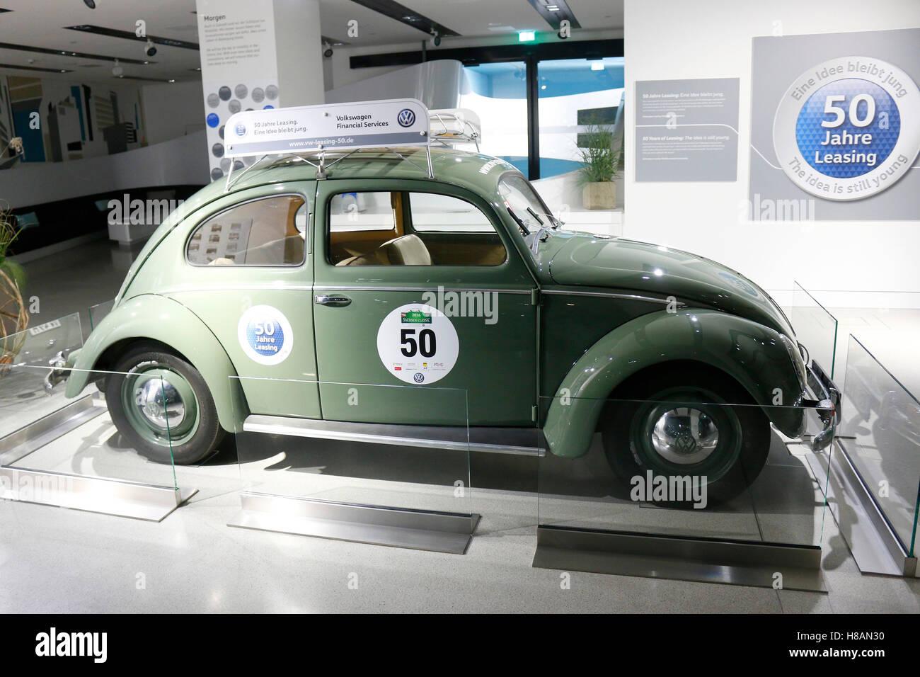 ein alter VW Kaefer, Berlin. - Stock Image