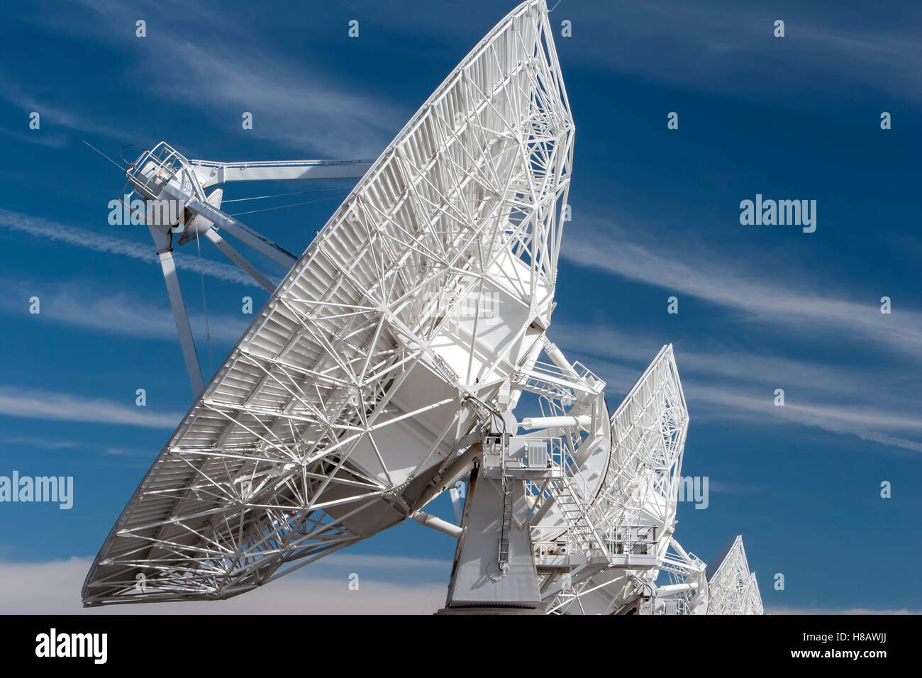 Radio Telescopes, Very Large Array (VLA), near Magdalena, New Mexico USA - Stock Image