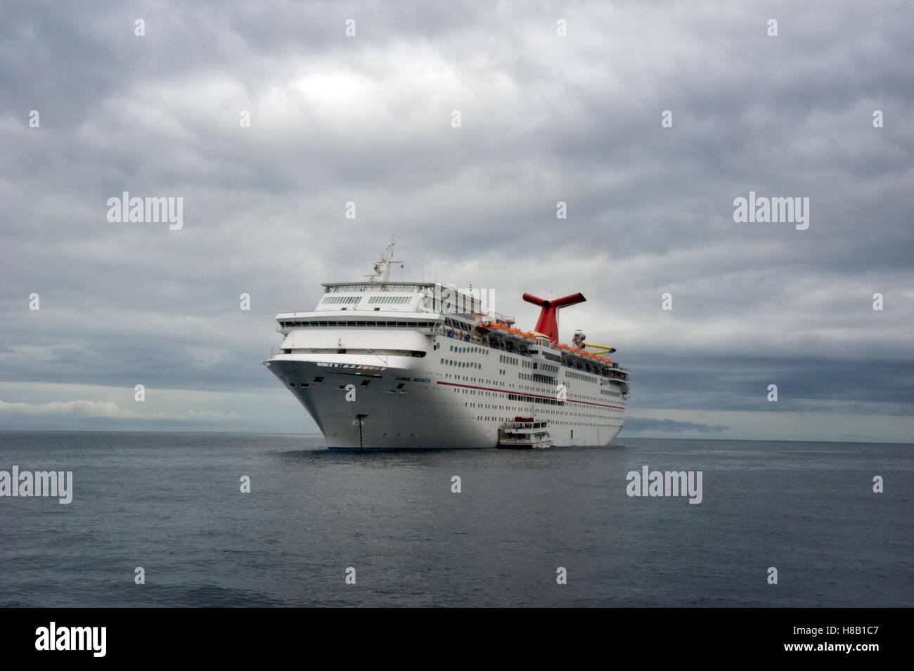 carnival cruise ship docked in avalon harbor on catalina island ca