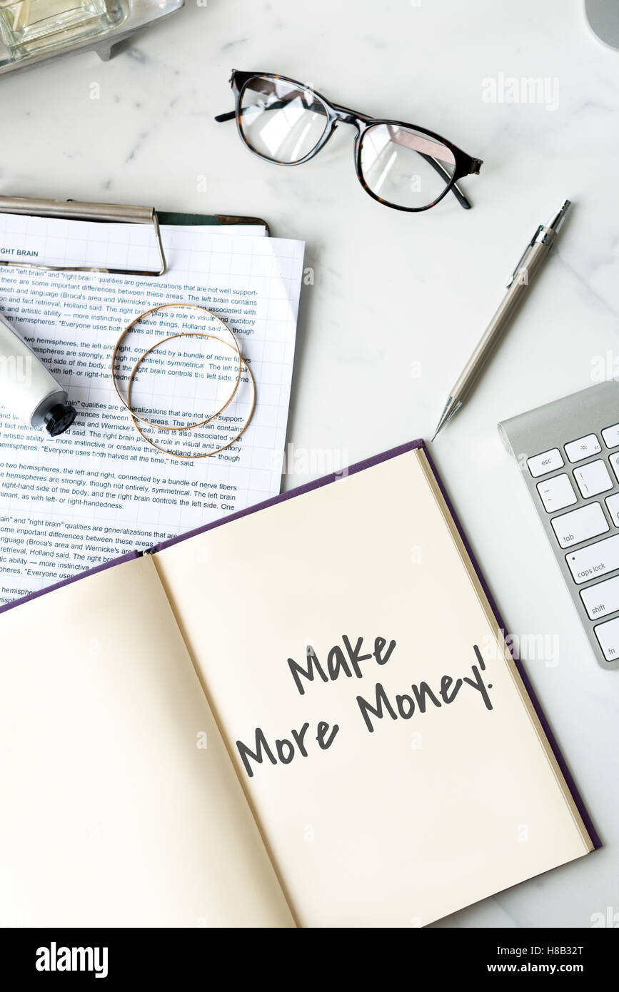 Make More Money Financial Earning Concept - Stock Image