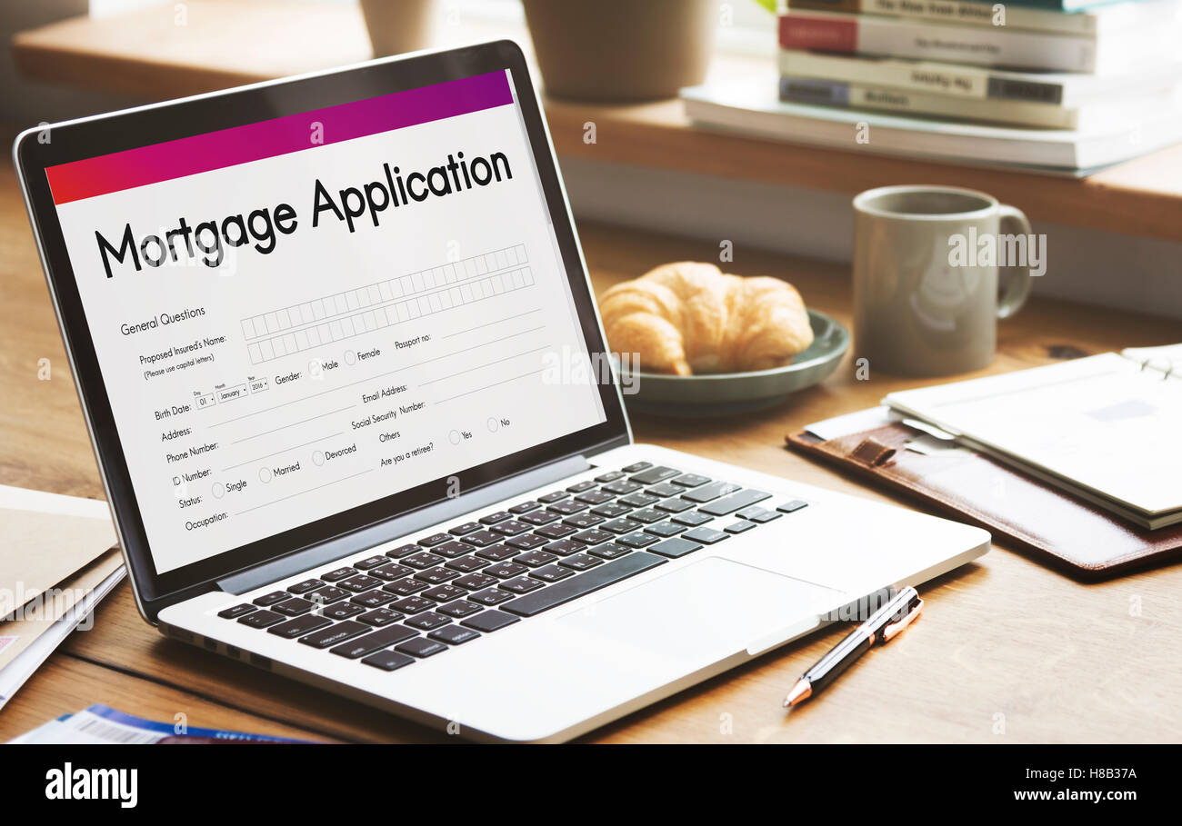 Mortgage Application Home Loan Concept - Stock Image
