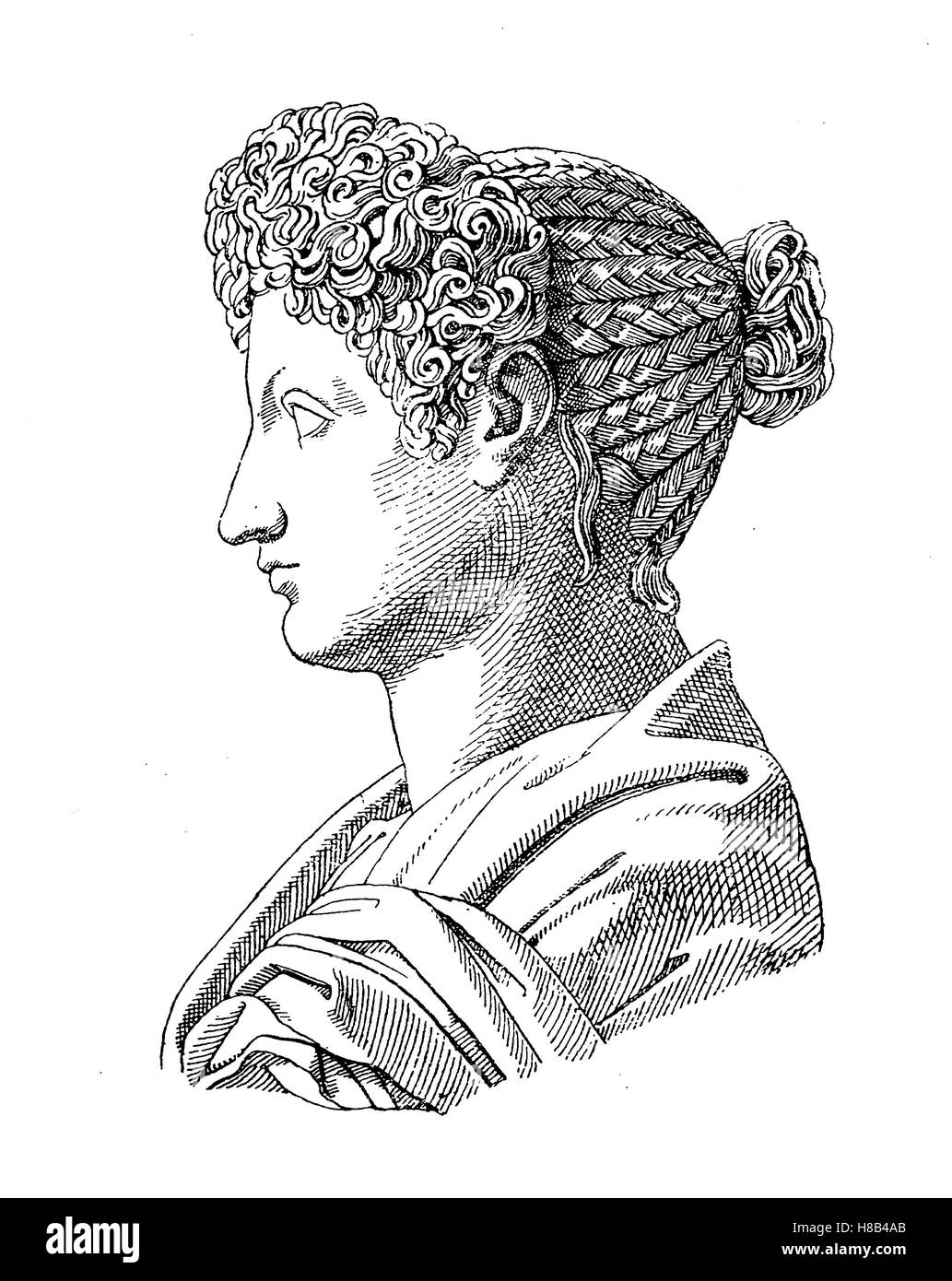 Julia, daughter of the Roman Emperor Titus, History of fashion, costume story - Stock Image