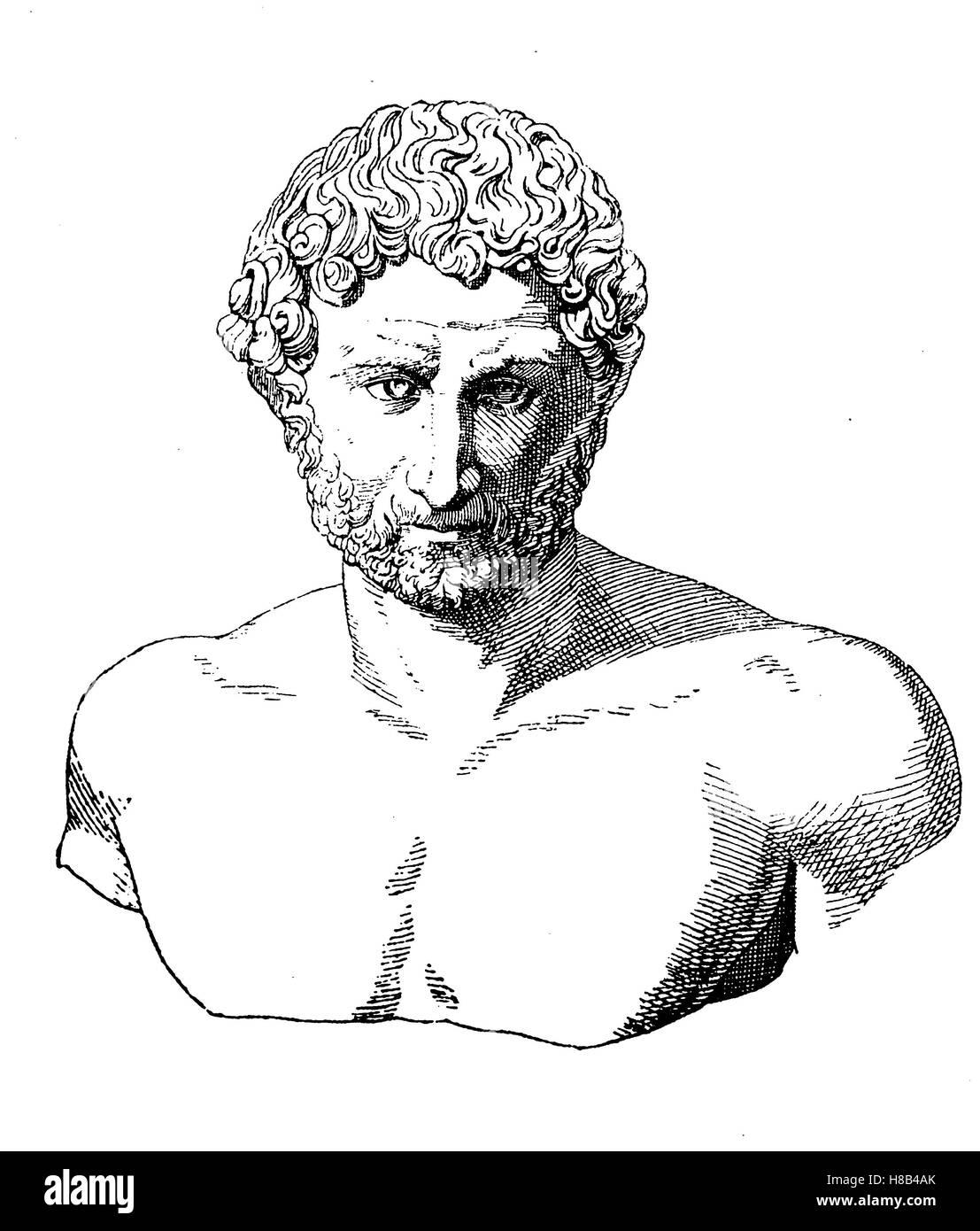 The Roman Emperor Hadrian, History of fashion, costume story - Stock Image