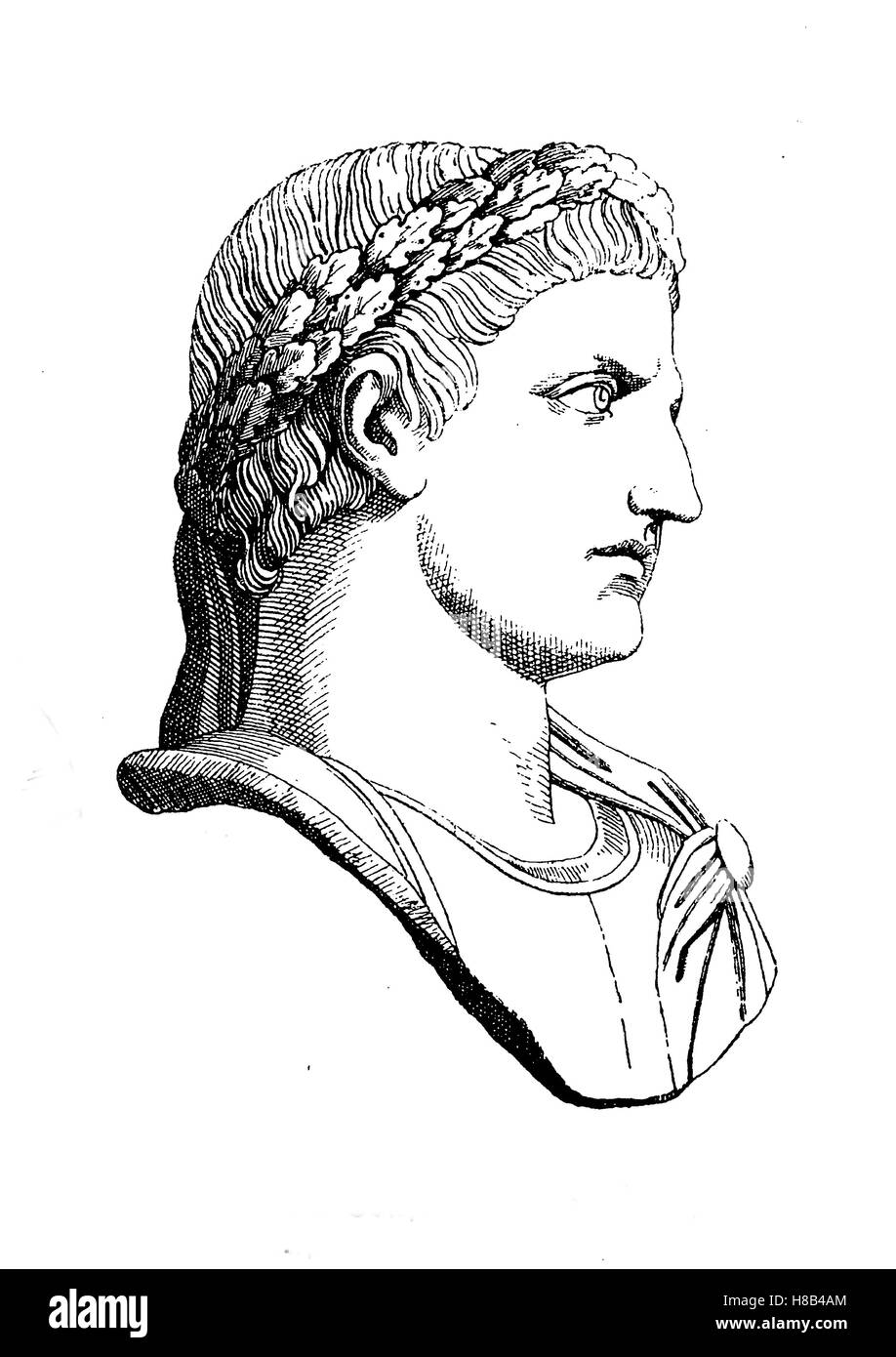 The Roman Emperor Constantine the Great, History of fashion, costume story - Stock Image