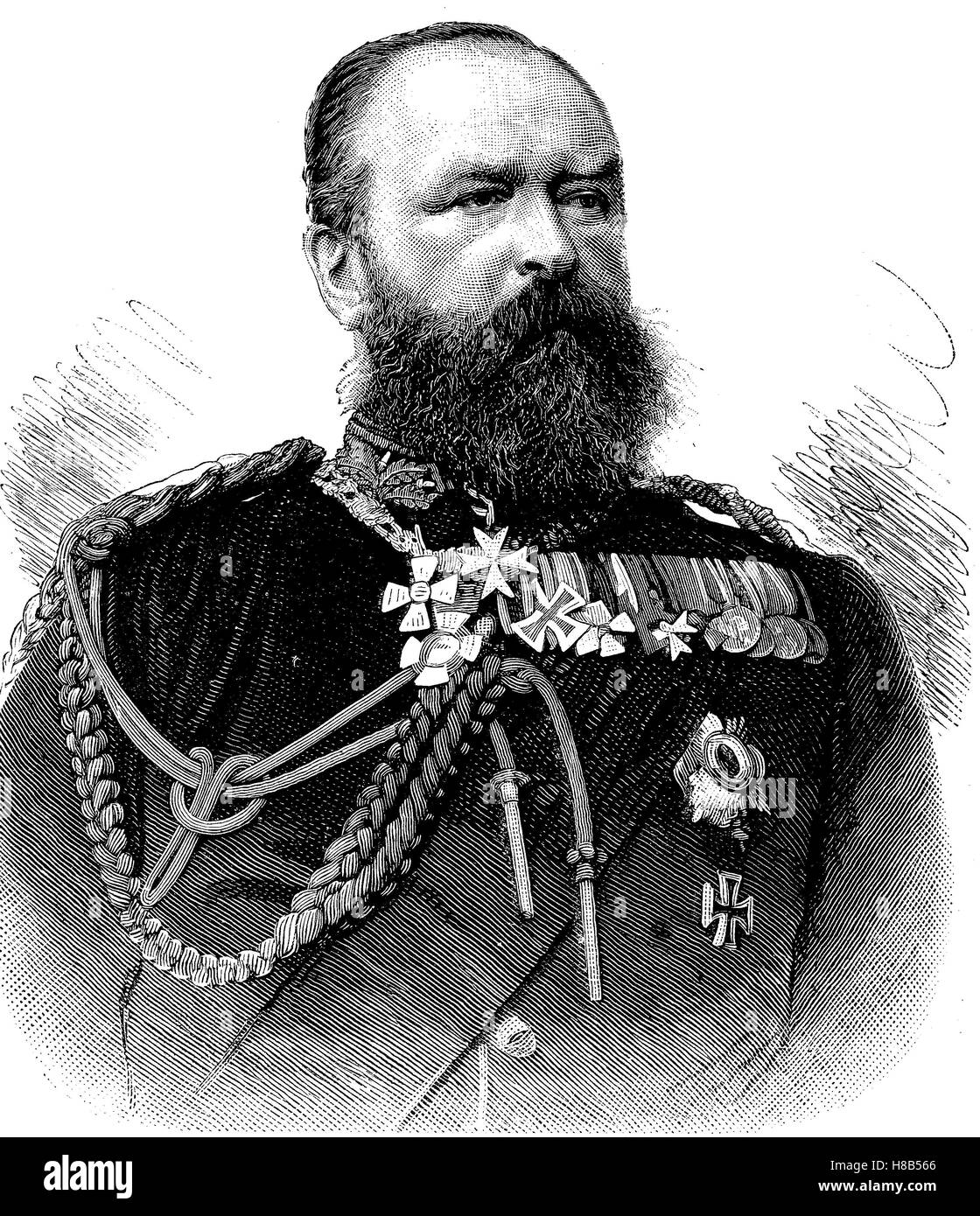 Louis IV, Friedrich Wilhelm Ludwig Karl, 12 September 1837 - 13 March 1892, was the Grand Duke of Hesse and by Rhine, - Stock Image