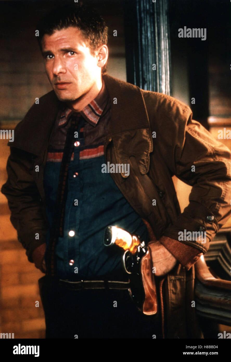 Blade Runner, (BLADE RUNNER) USA 1982, Regie: Ridley Scott, HARRISON FORD, Key: Colt, Waffe, Revolver, Holster - Stock Image
