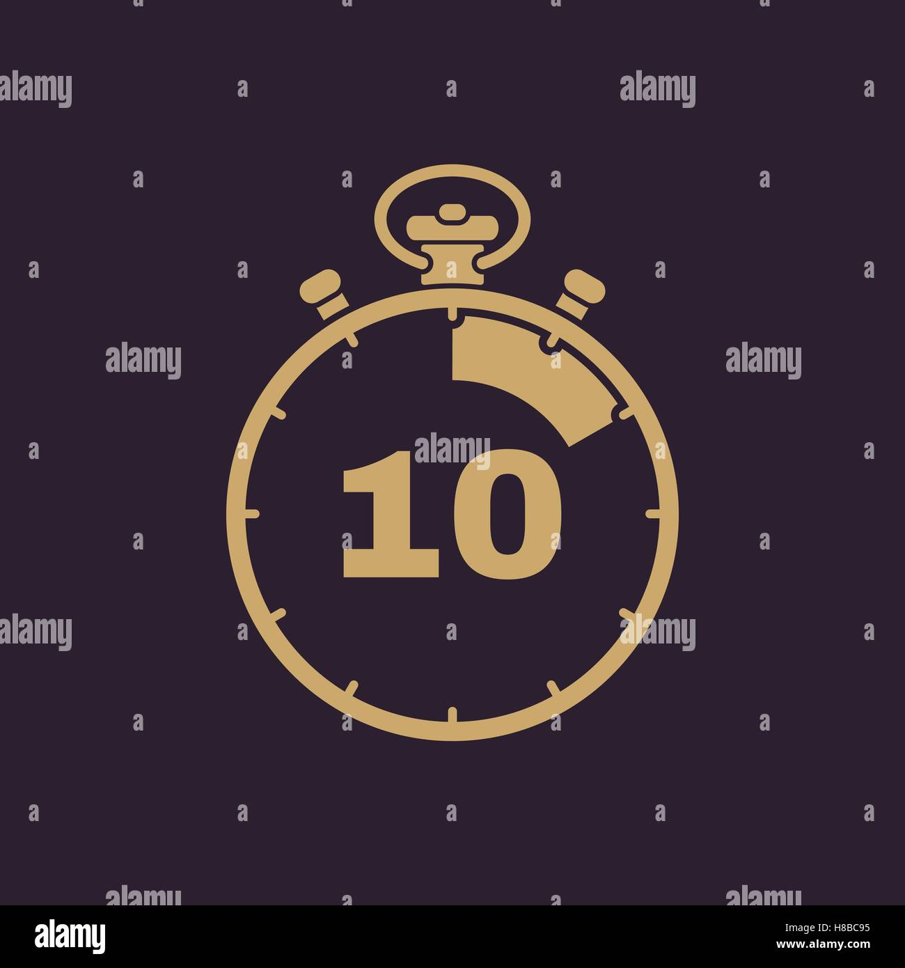 the 10 seconds minutes stopwatch icon clock and watch timer countdown