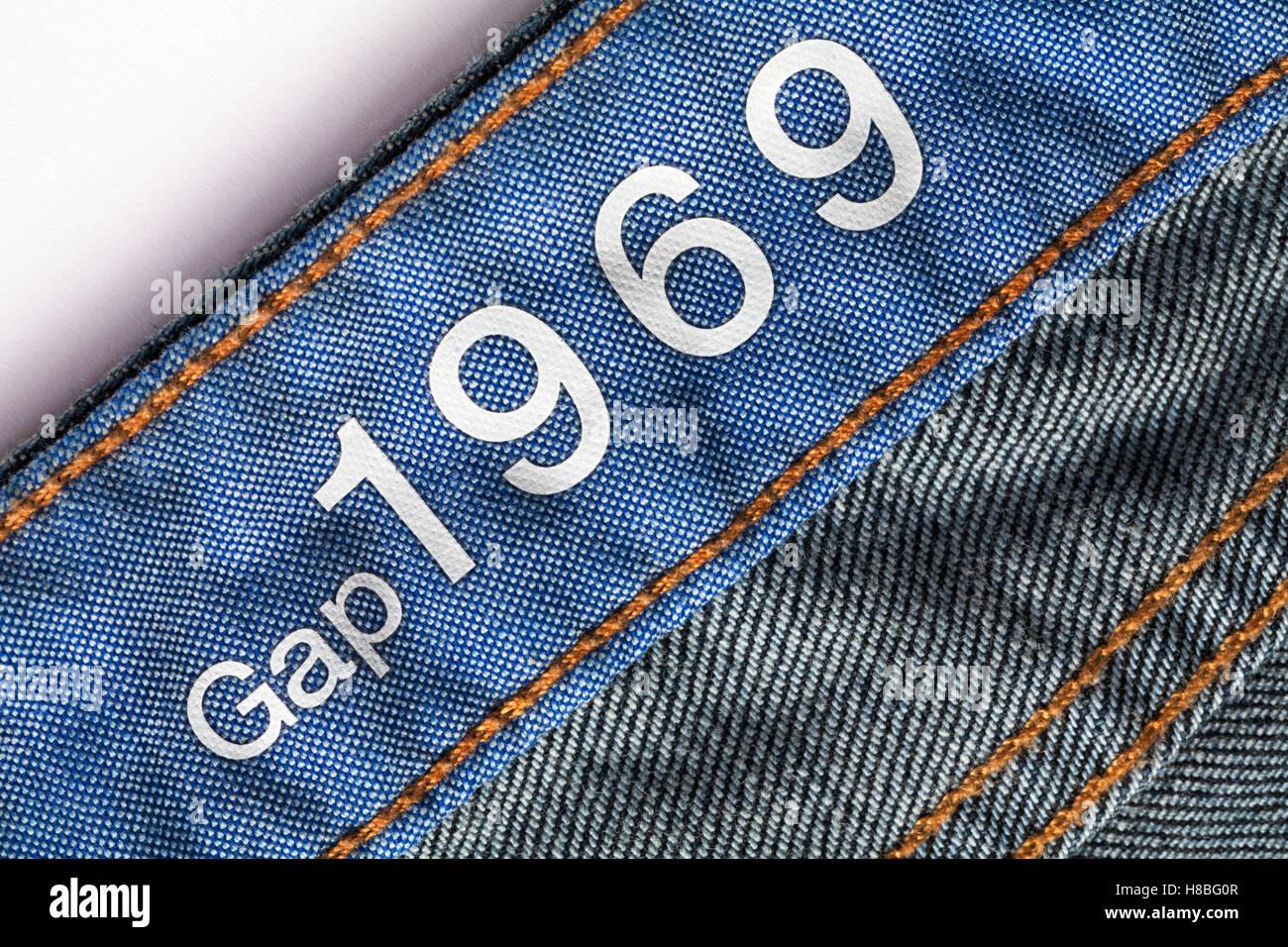 Gap 1969 Stamped In Denim Jeans Stock Photo Alamy