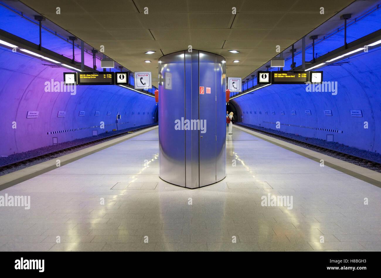 Germany, Ruhr area, Bochum, subway station Bochumer Verein Jahrhunderthalle. - Stock Image