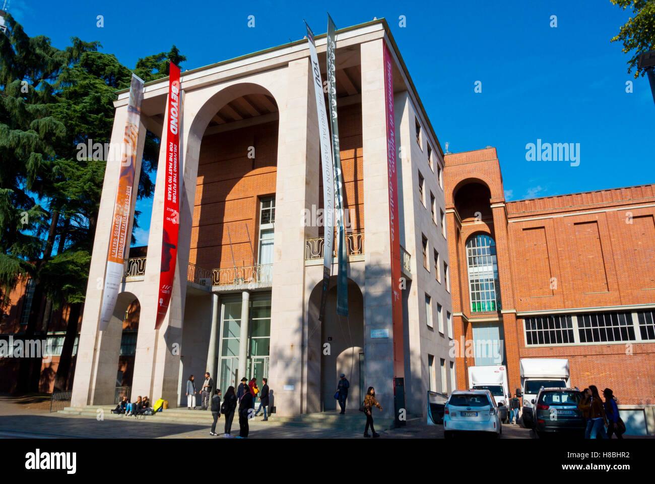 La Triennale di Milano, Parco Sempione, Milan, Lombardy, Italy - Stock Image