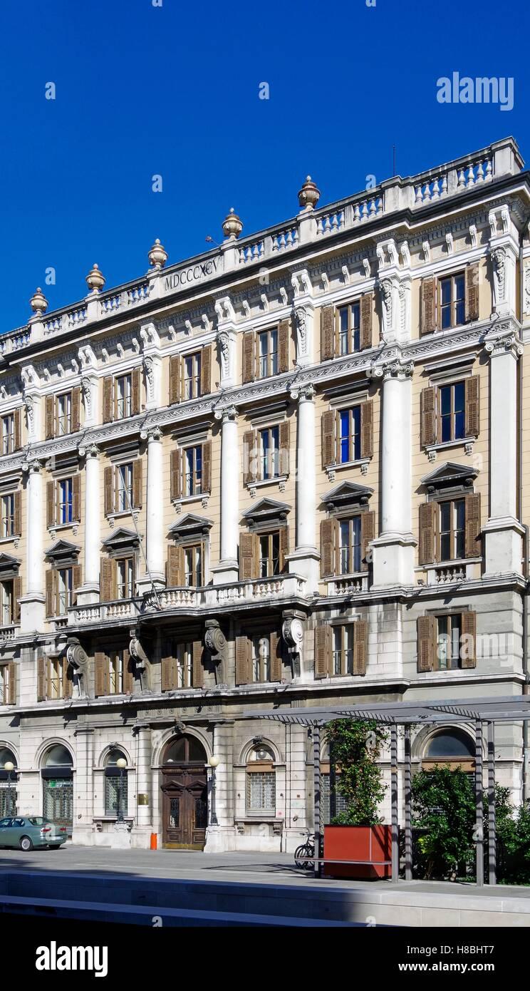 Trieste, Italy, Head Post Office aka Postal Palace - Stock Image