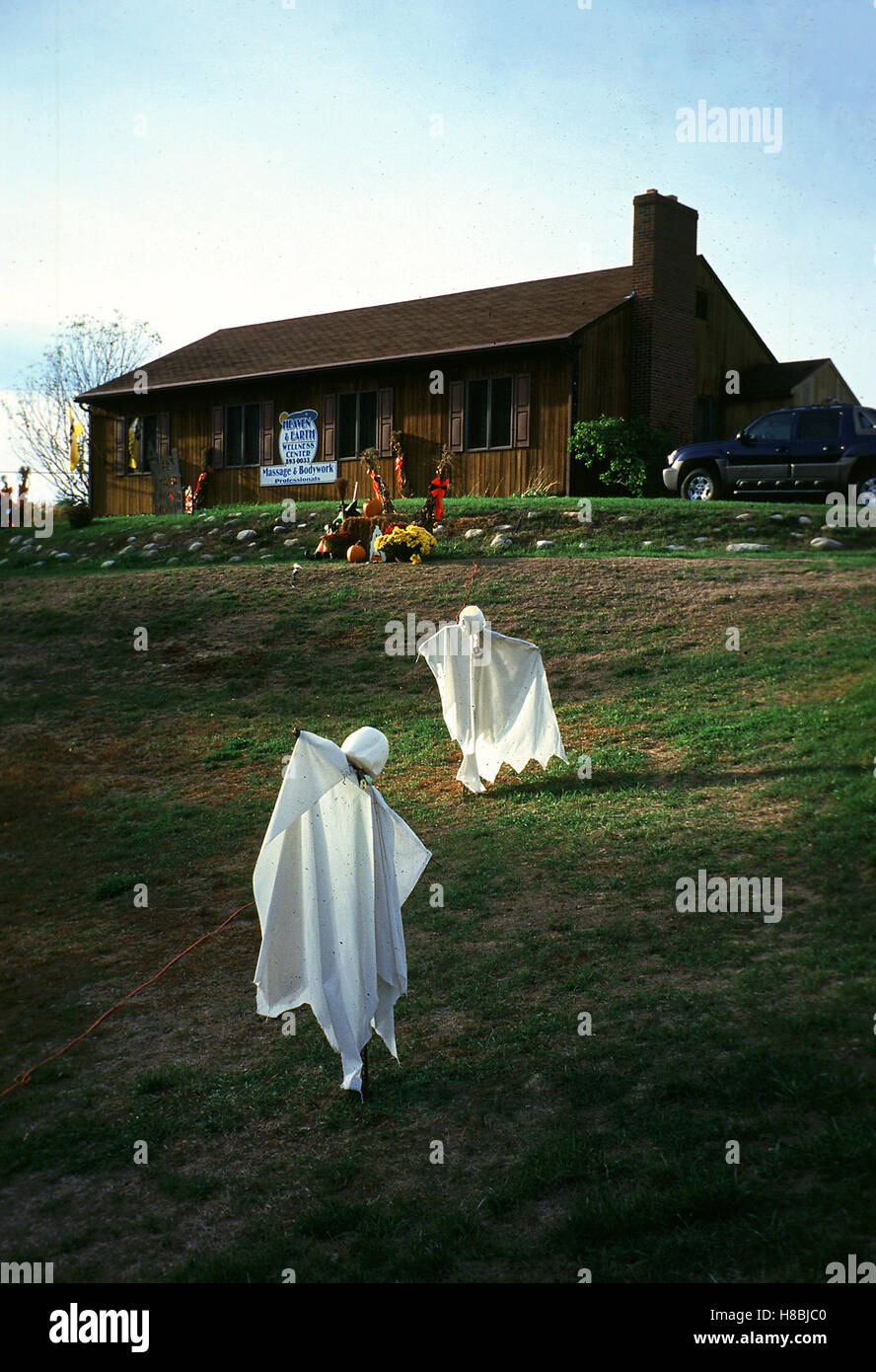 Halloween In Windham Maine Usa 2002 Key Geist Gespenst Stock Photo Alamy