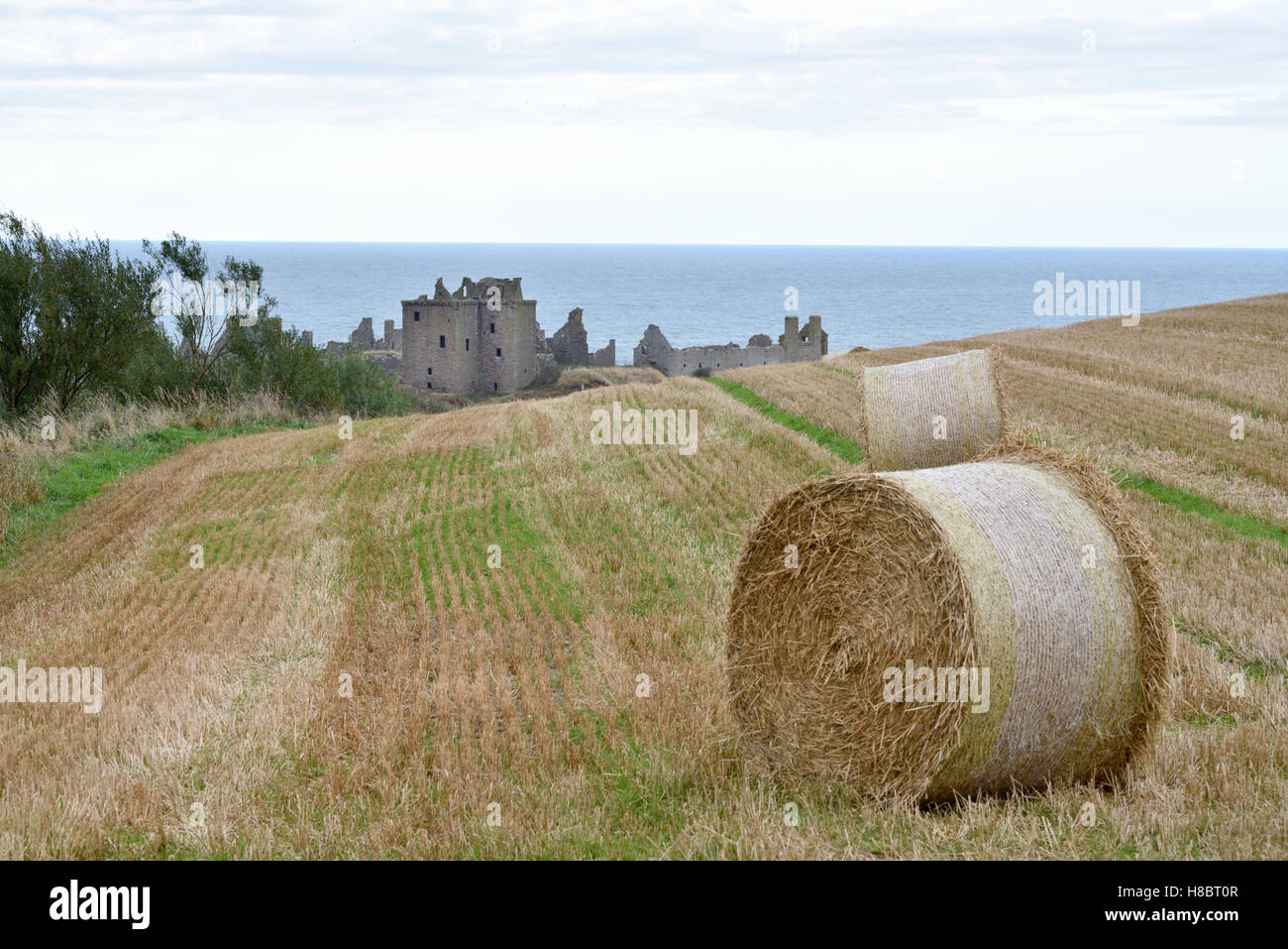 Dunnottar Castle From A Distance - Stock Image