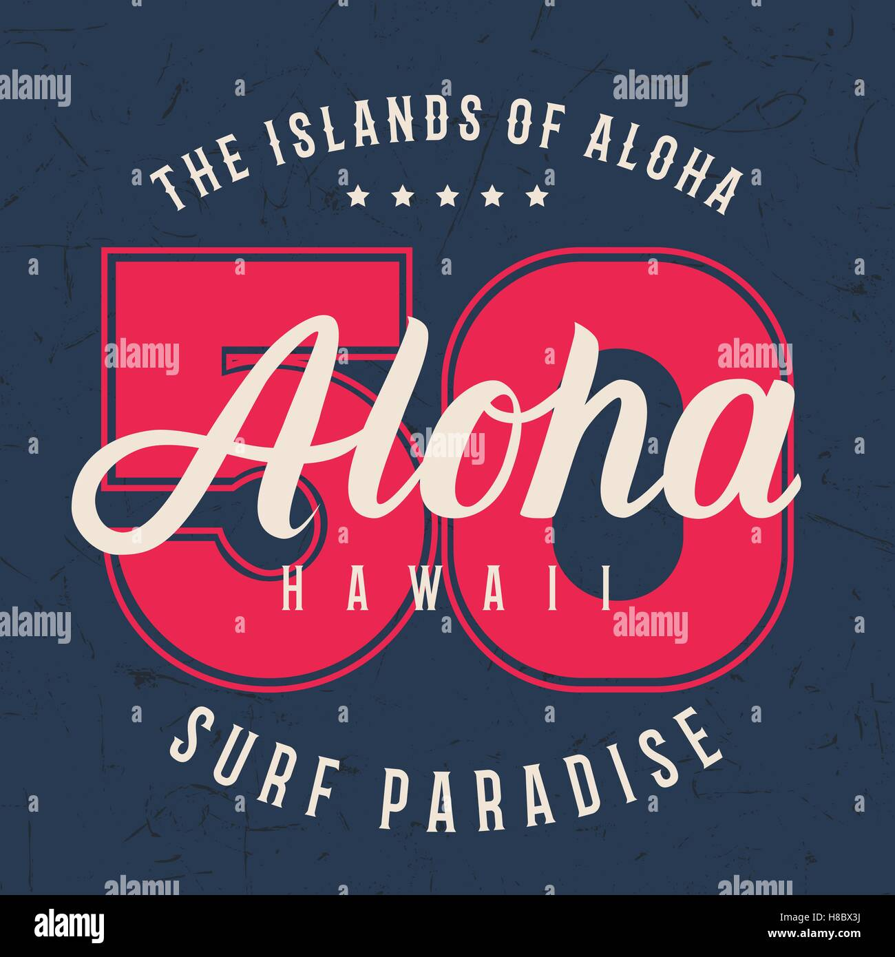 Aloha hawaii lettering typography, t-shirt graphics design